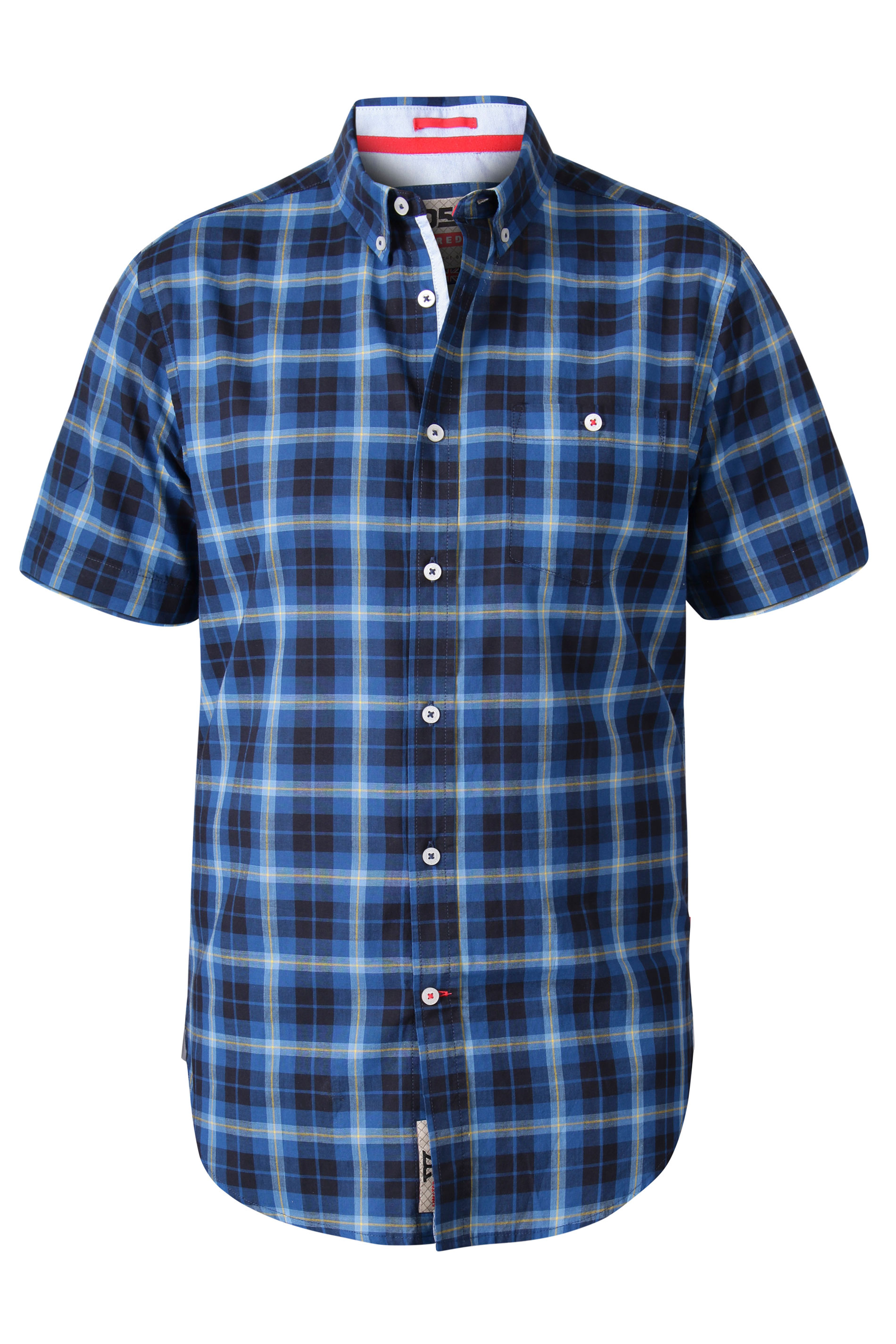 D555 Navy Check Short Sleeve Shirt