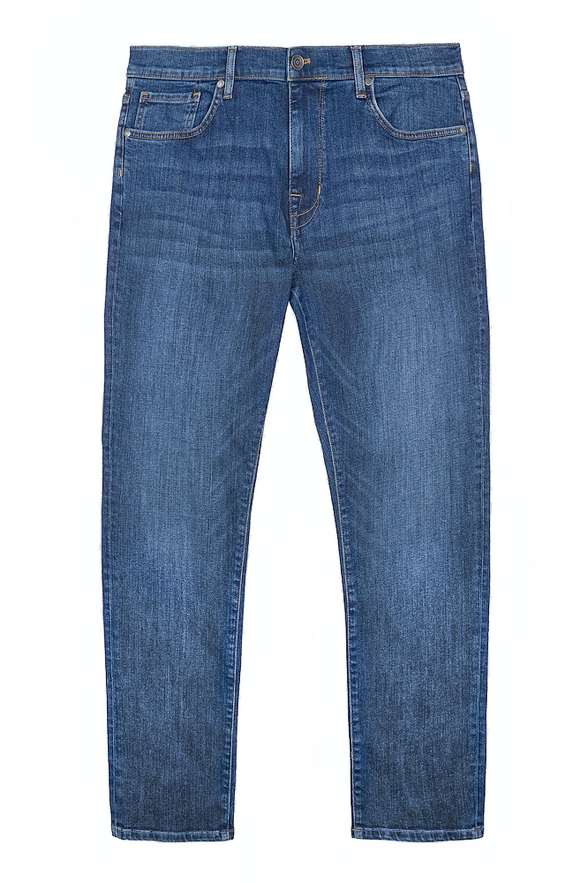 BEN SHERMAN Blue Straight Leg Denim Jeans
