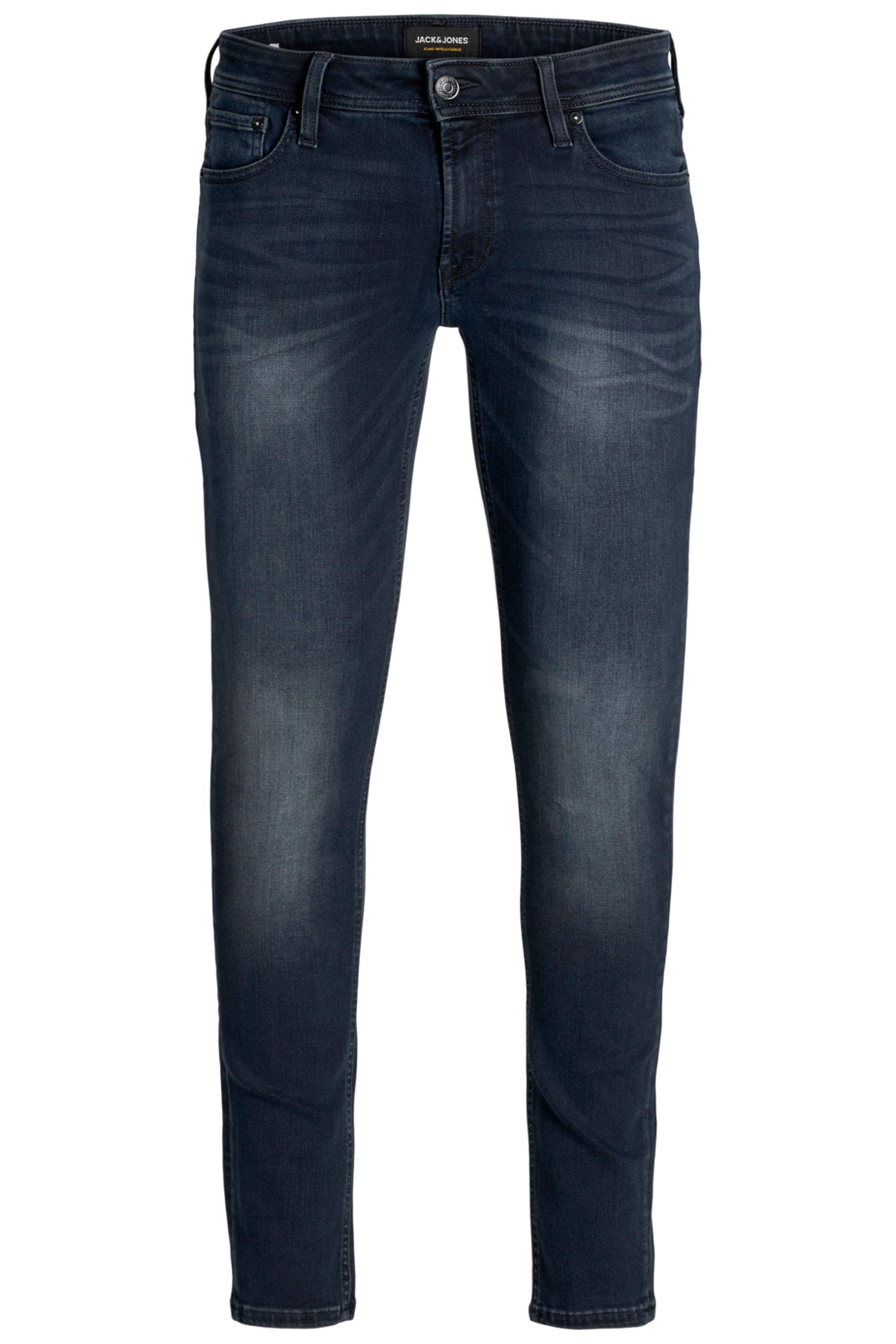 JACK & JONES Dark Blue Glenn Original Straight Leg Jeans
