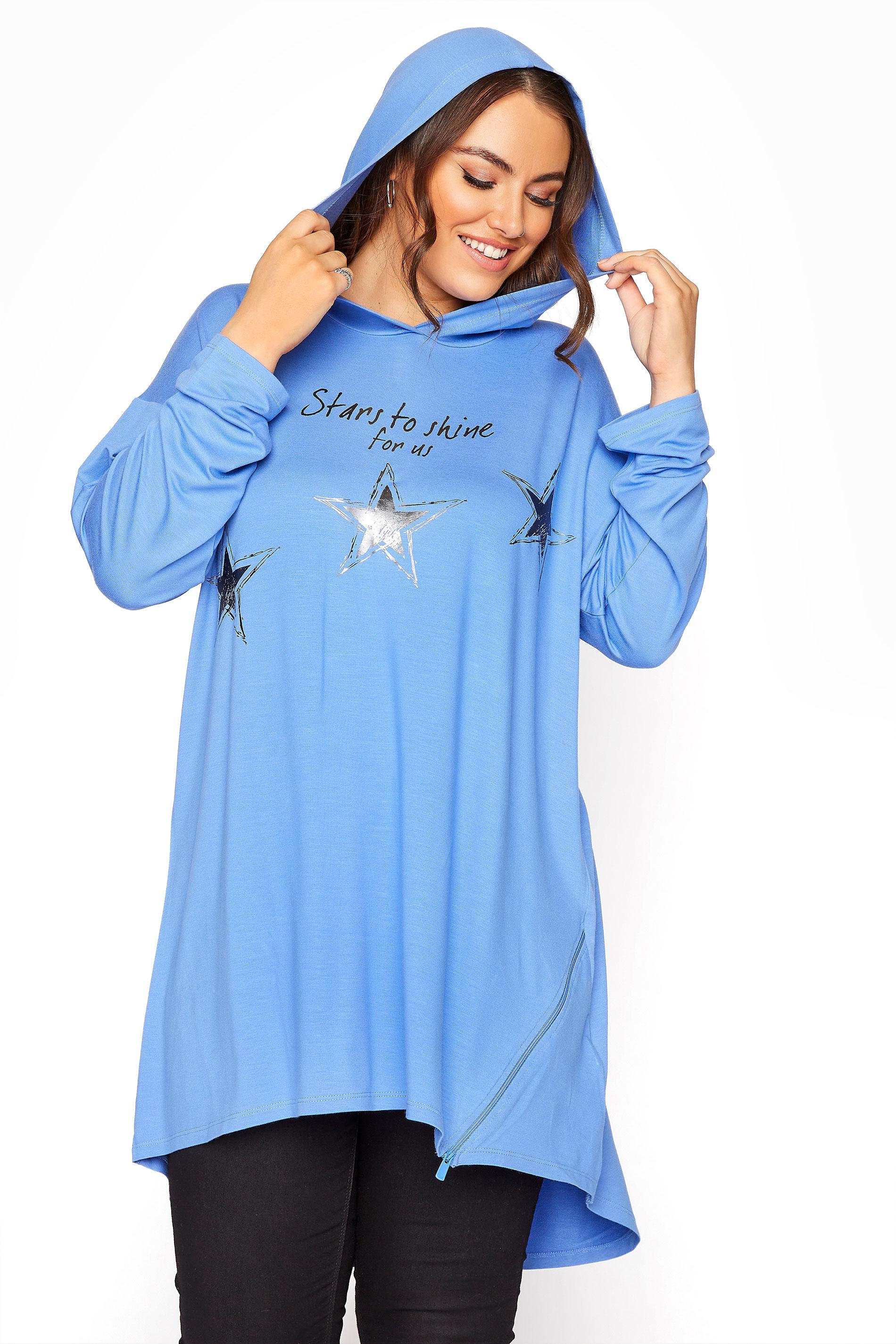Blue Star Print Tunic Hoodie_A.jpg