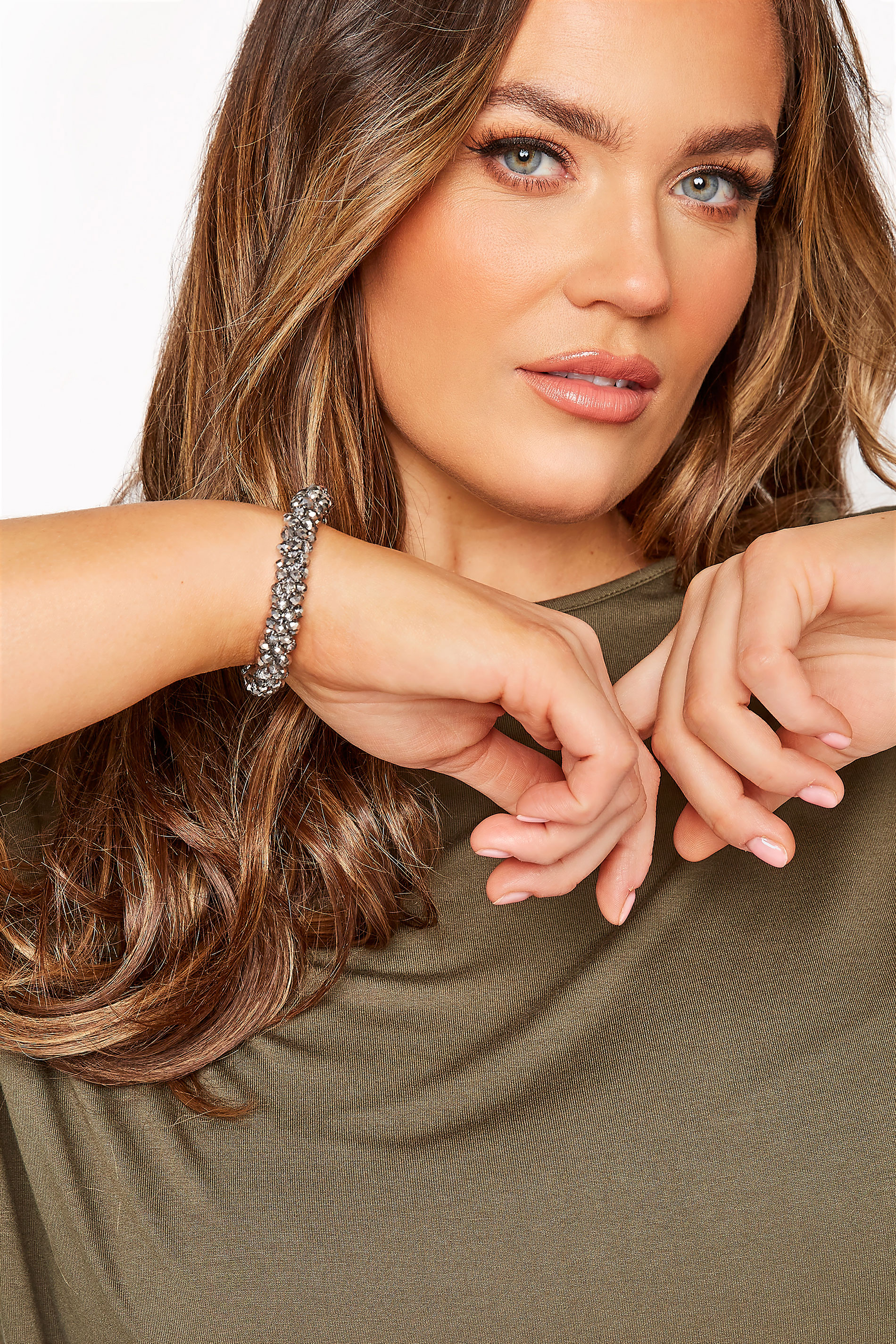 Silver Beaded Stretch Bracelet_M.jpg