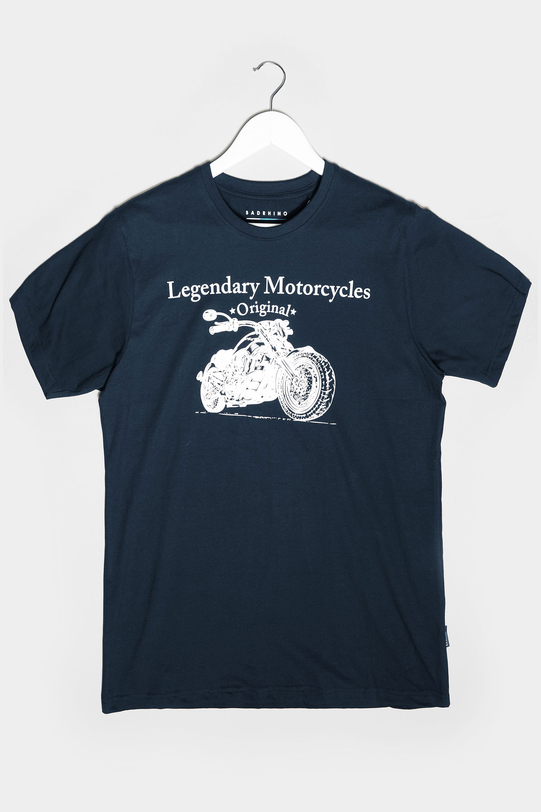 BadRhino Navy Legendary Motorcycles Graphic Print T-Shirt