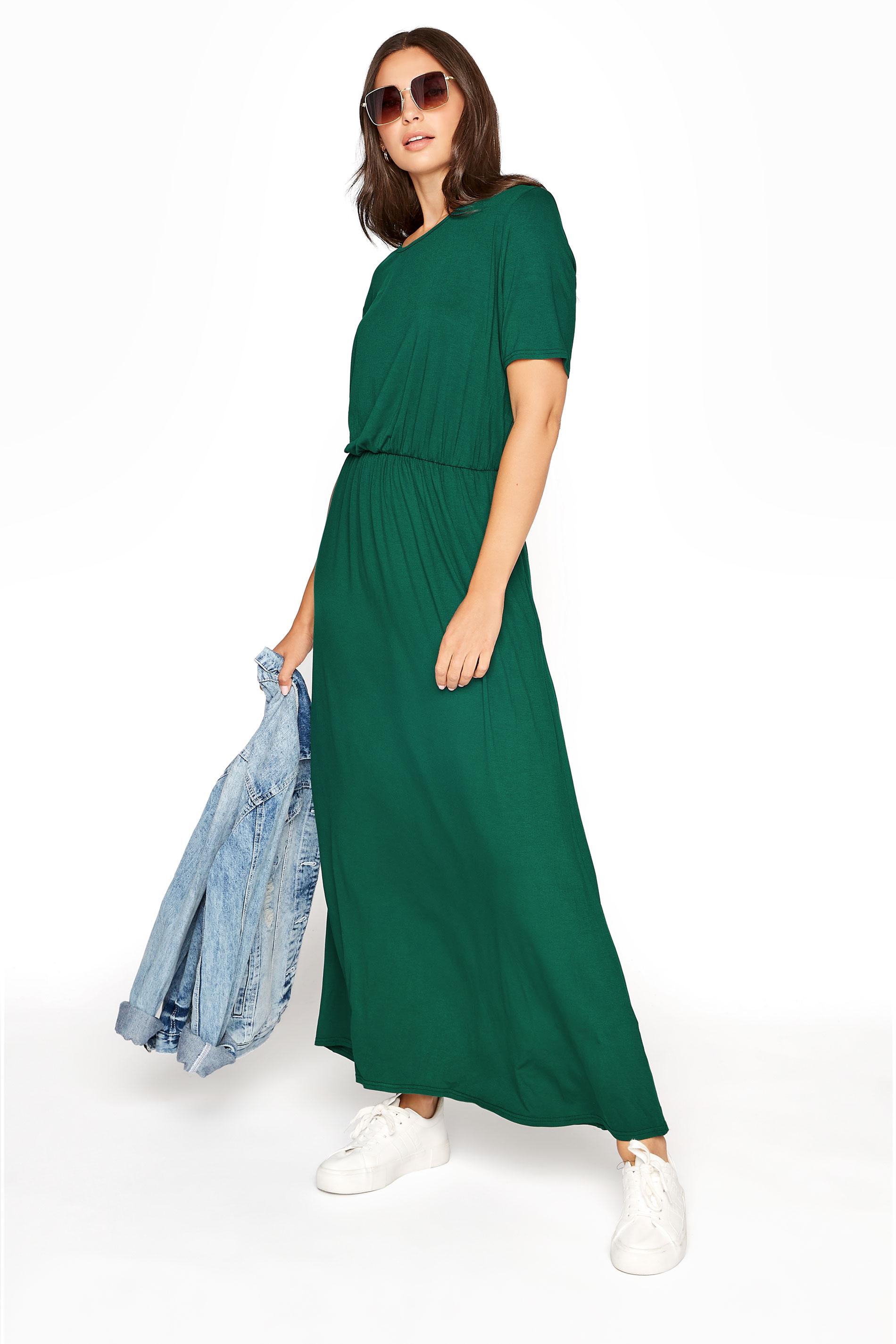 LTS Forest Green Pocket Midaxi Dress_A.jpg