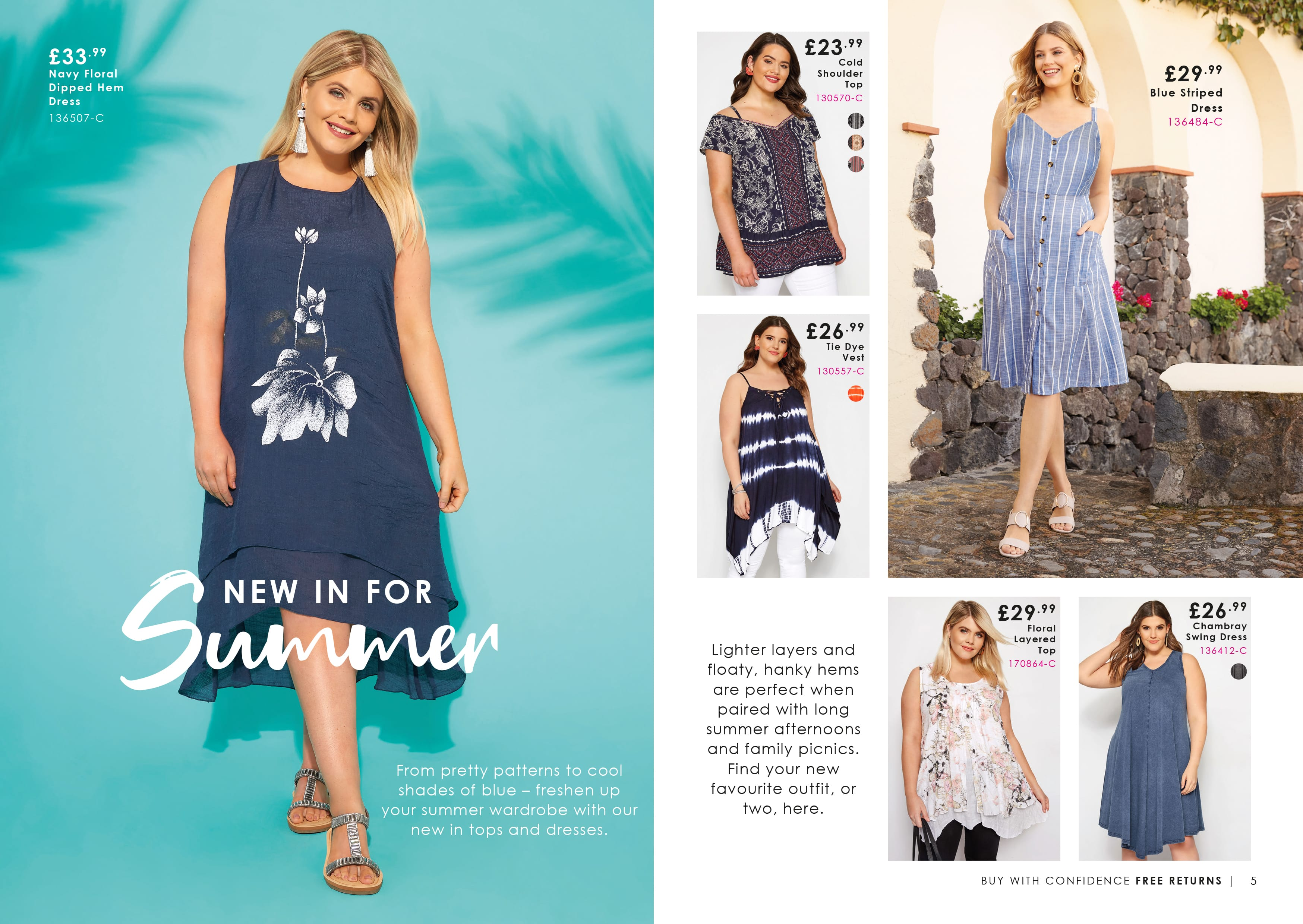 New In For Summer