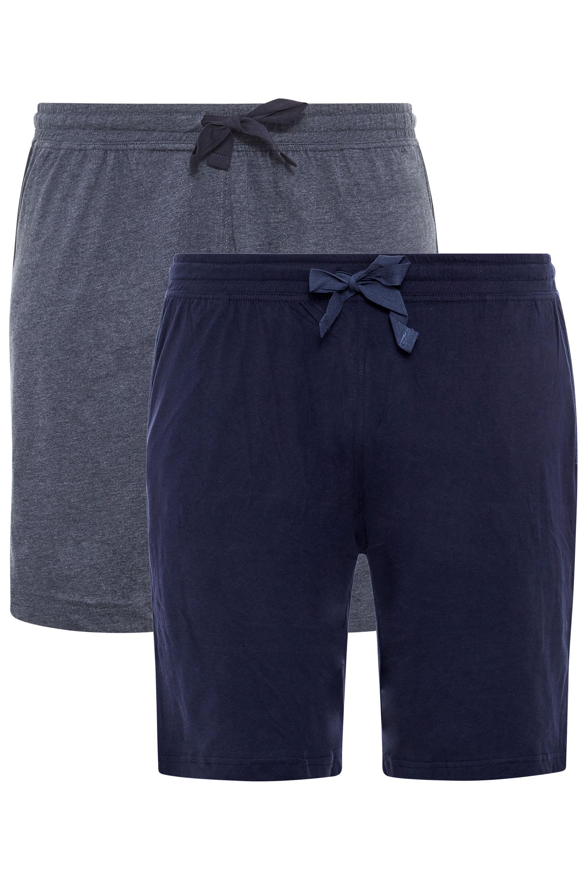 D555 2 PACK Navy Jogger Shorts