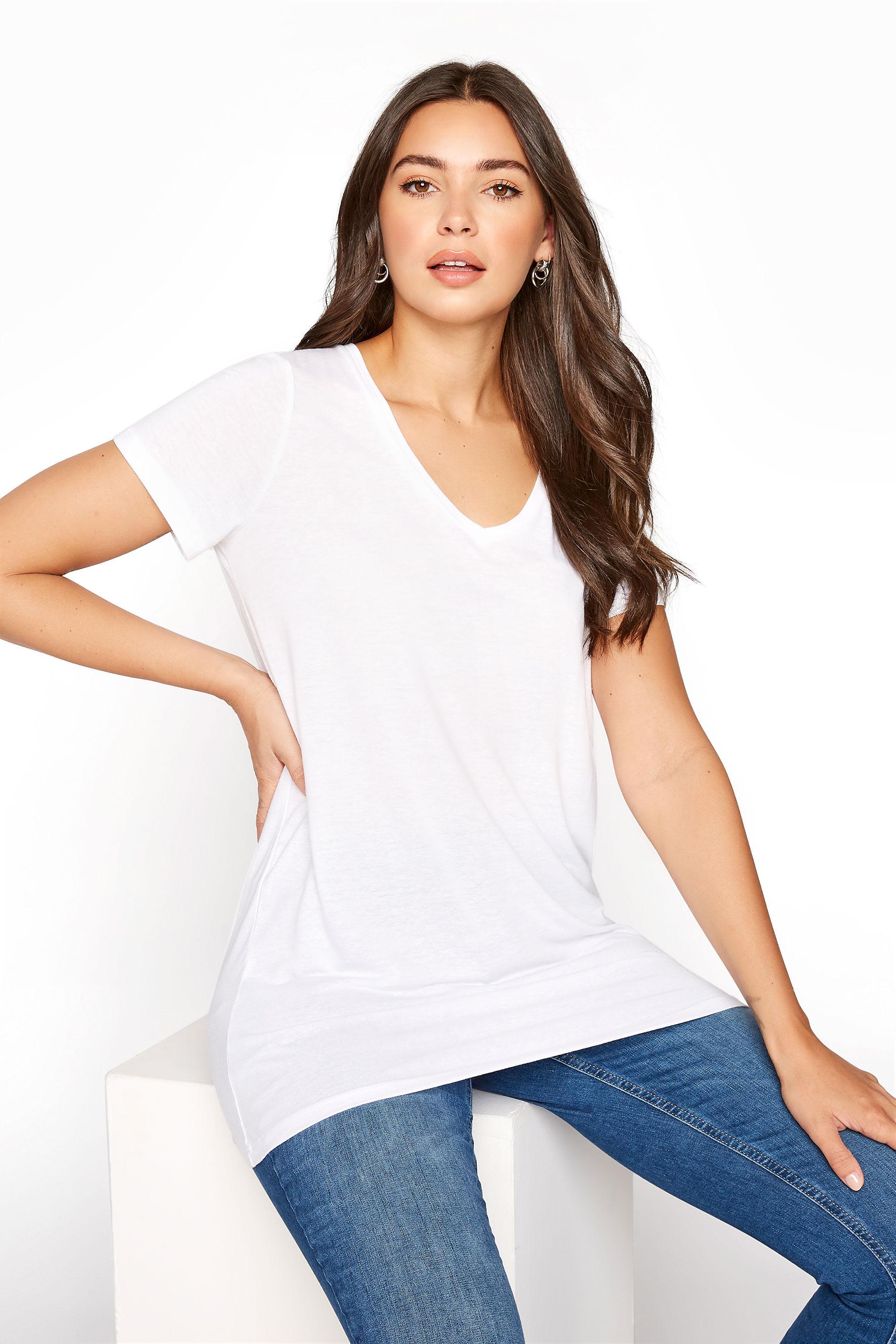 LTS White Linen Blend V-Neck T-Shirt_A.jpg
