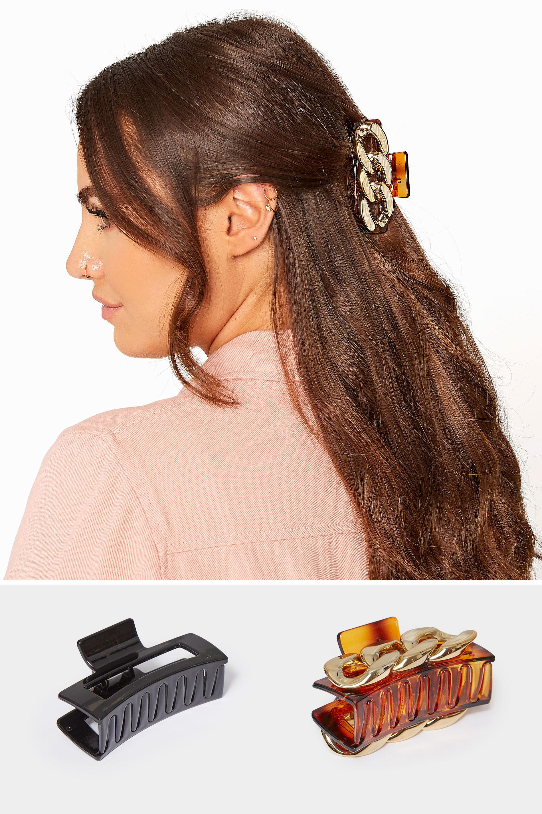 2 PACK Gold Chain & Tortoiseshell Hair Clip_split.jpg