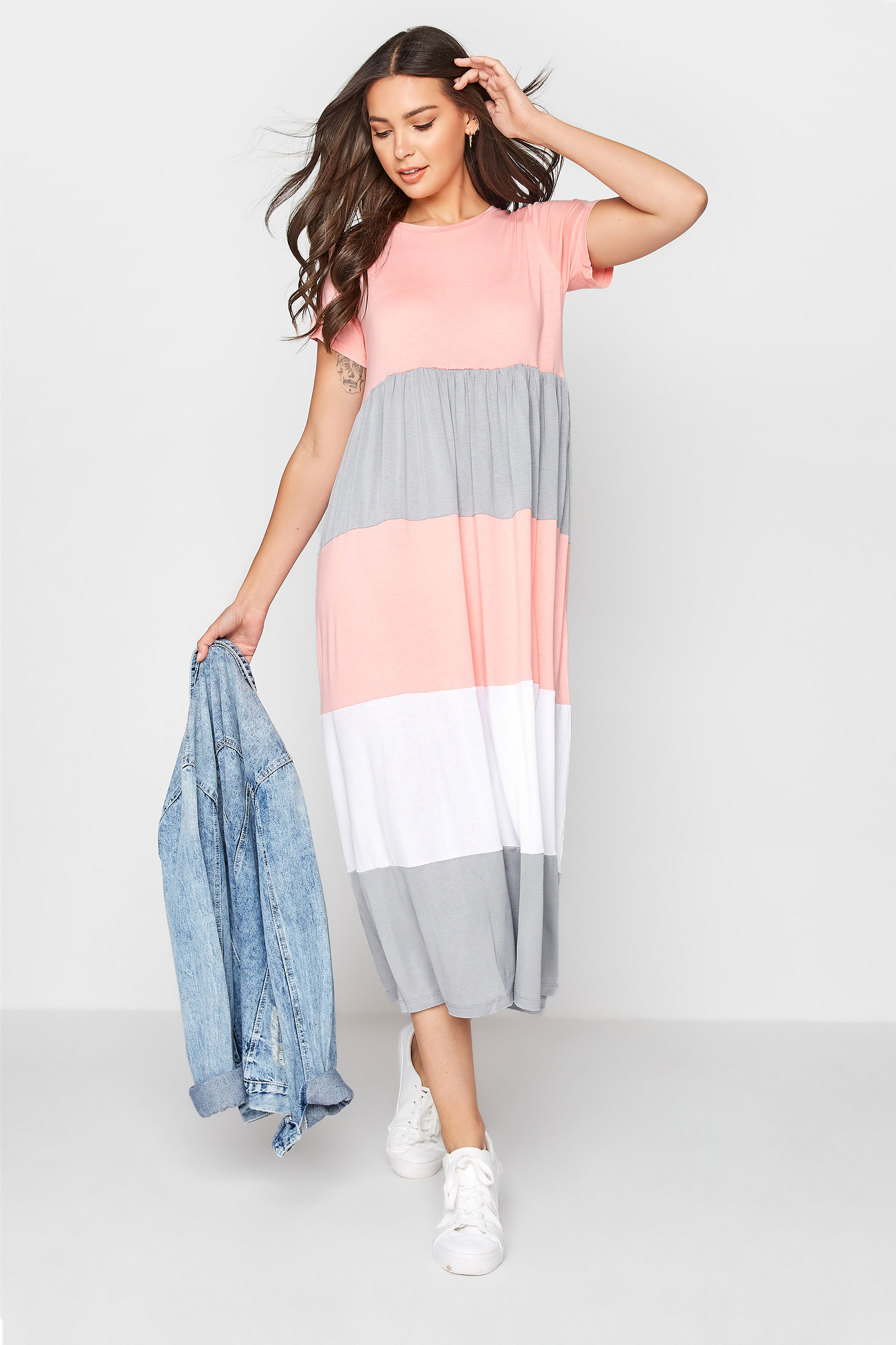 LTS Pink Colour Block Dress_B.jpg