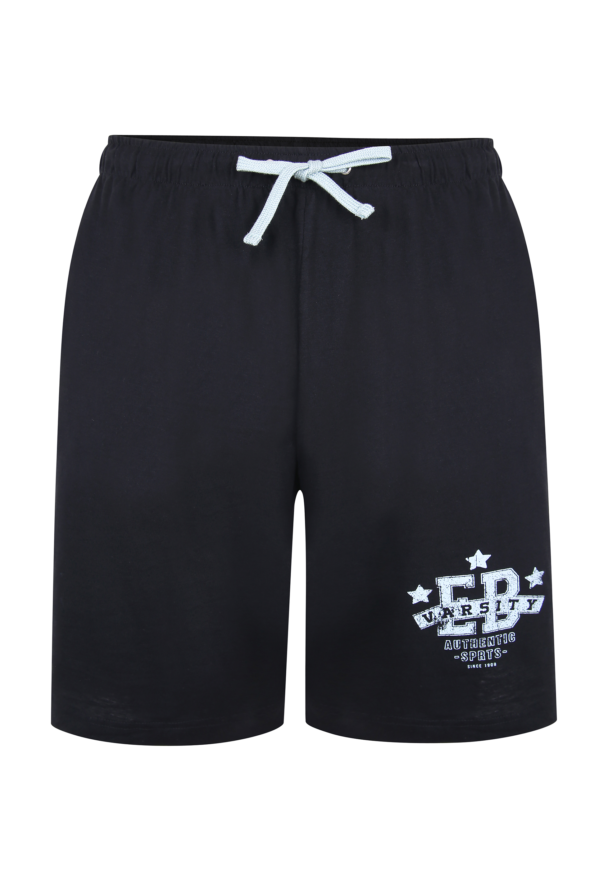 ED BAXTER Black Varsity Shorts