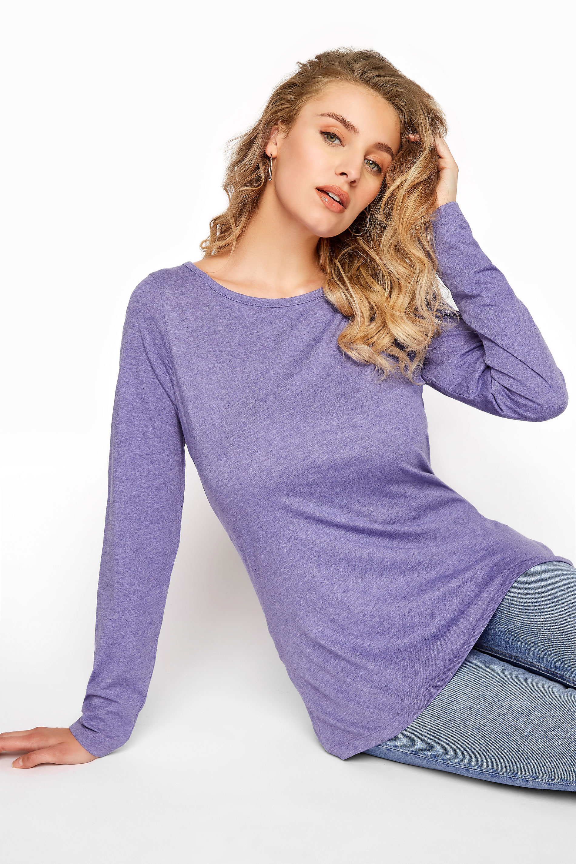 LTS Purple Scoop Neck T-Shirt