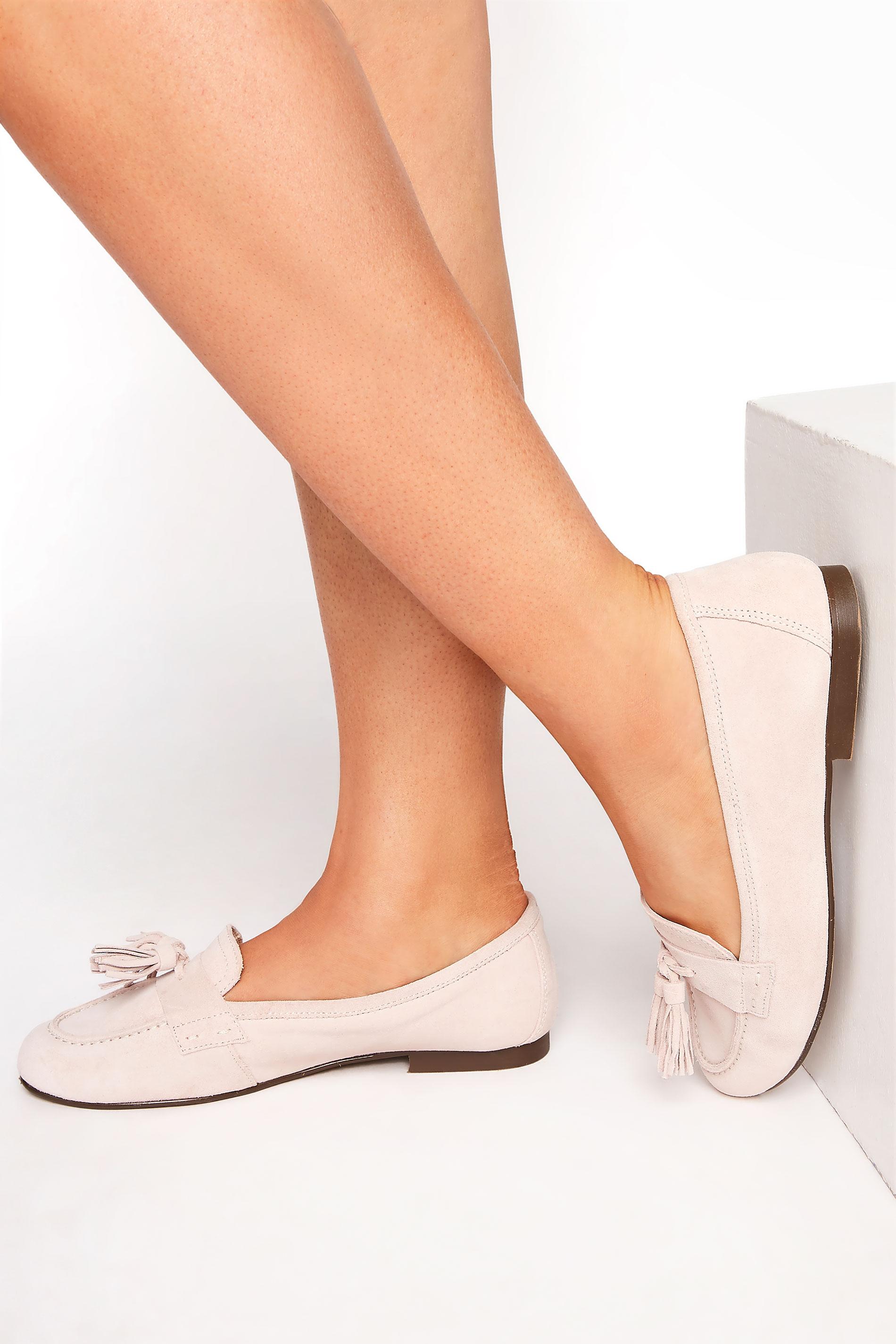 LTS Nude Suede Tassel Loafer