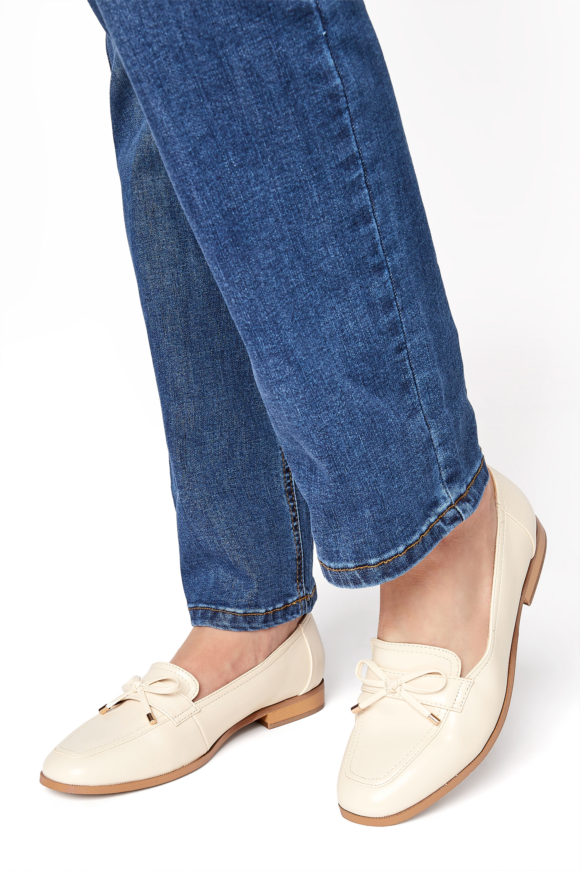LTS White Bow Trim Loafer