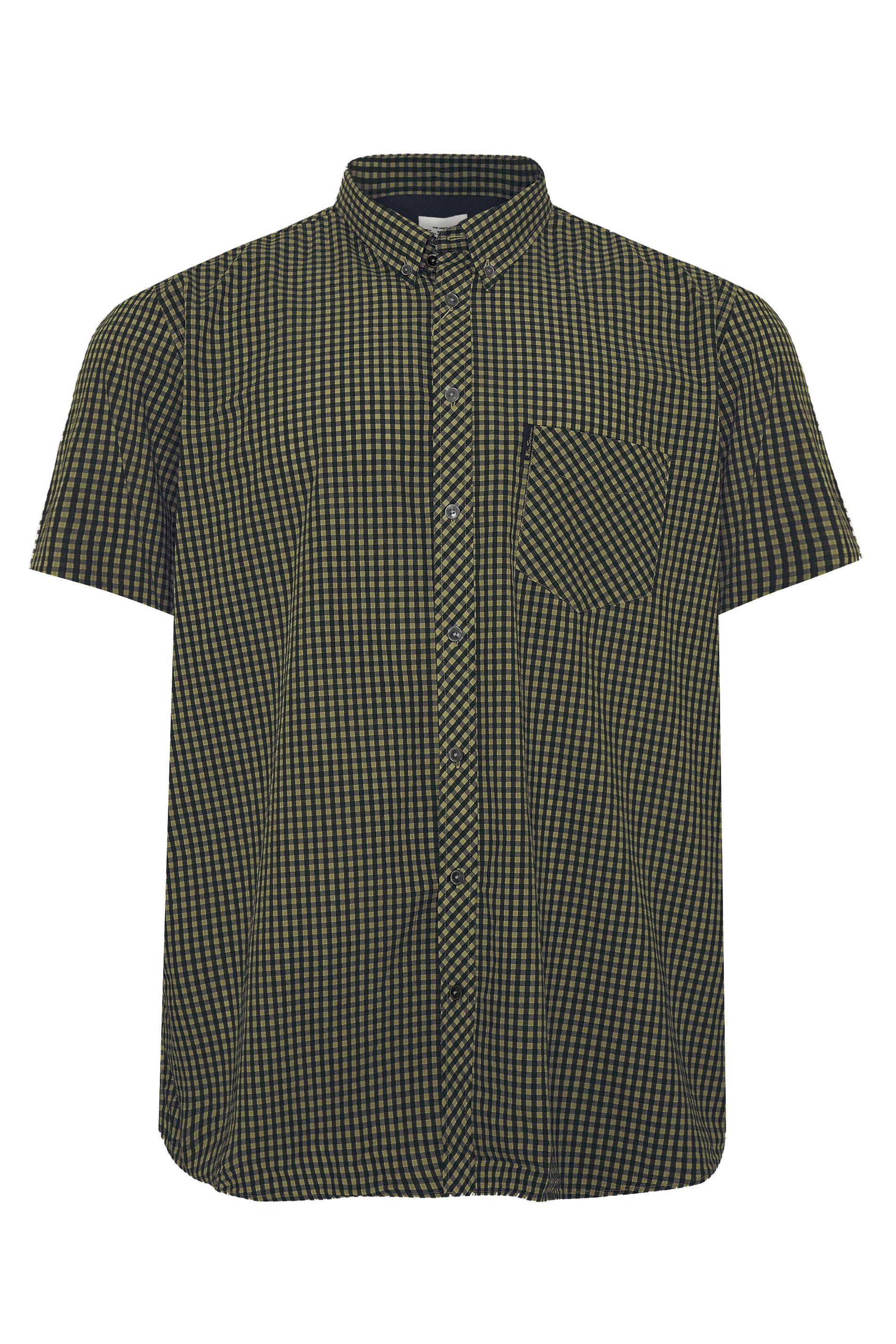 BEN SHERMAN Green Check Signature Short Sleeve Shirt