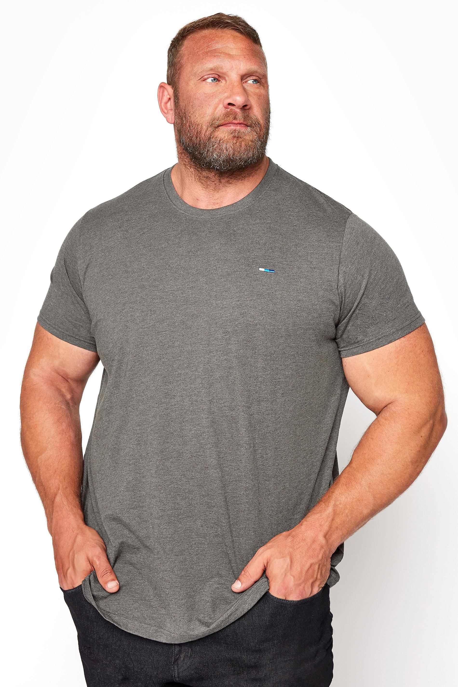 BadRhino Charcoal Grey Plain T-Shirt
