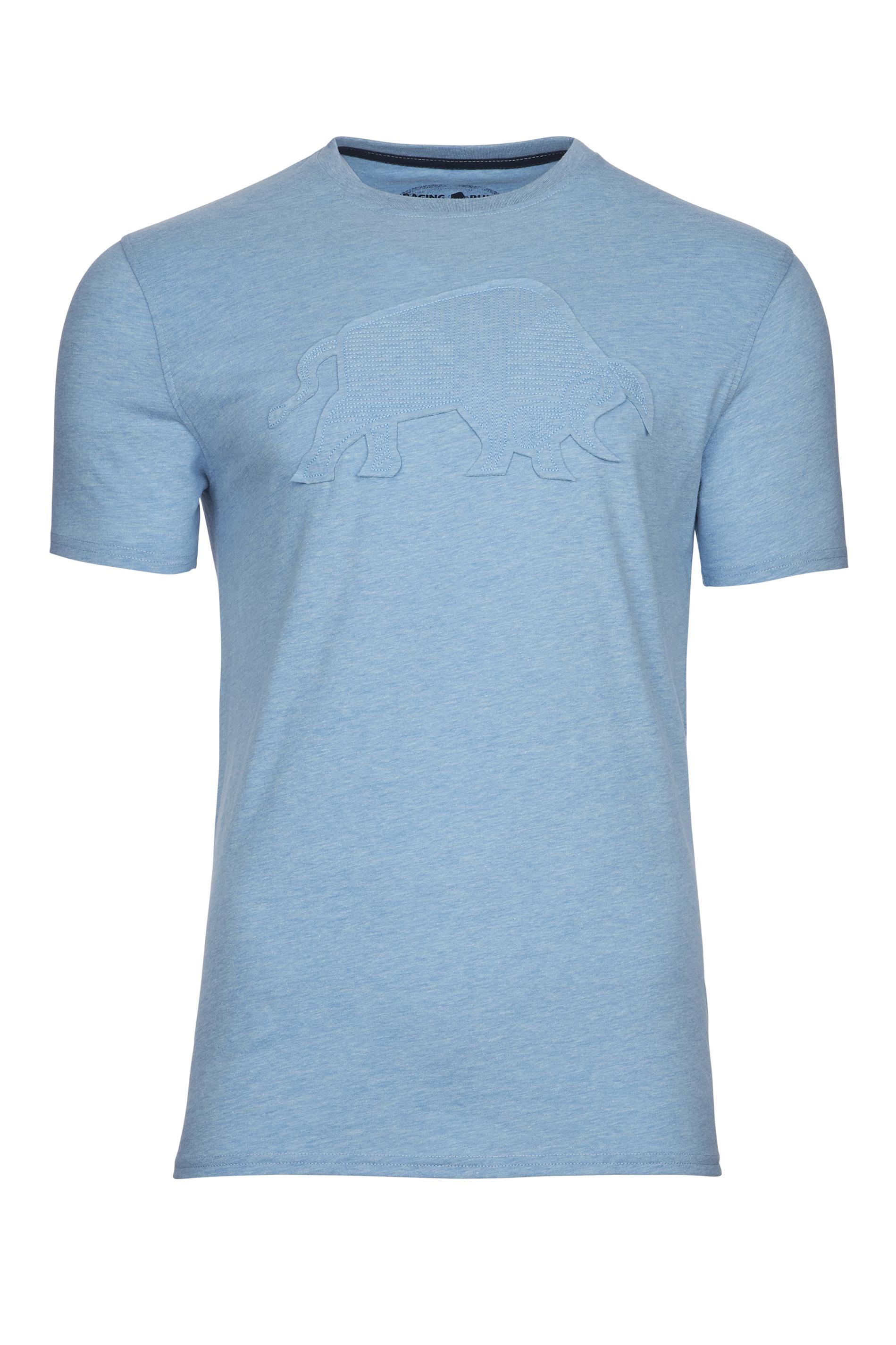 RAGING BULL Blue Embroidered Bull T-Shirt_F.jpg