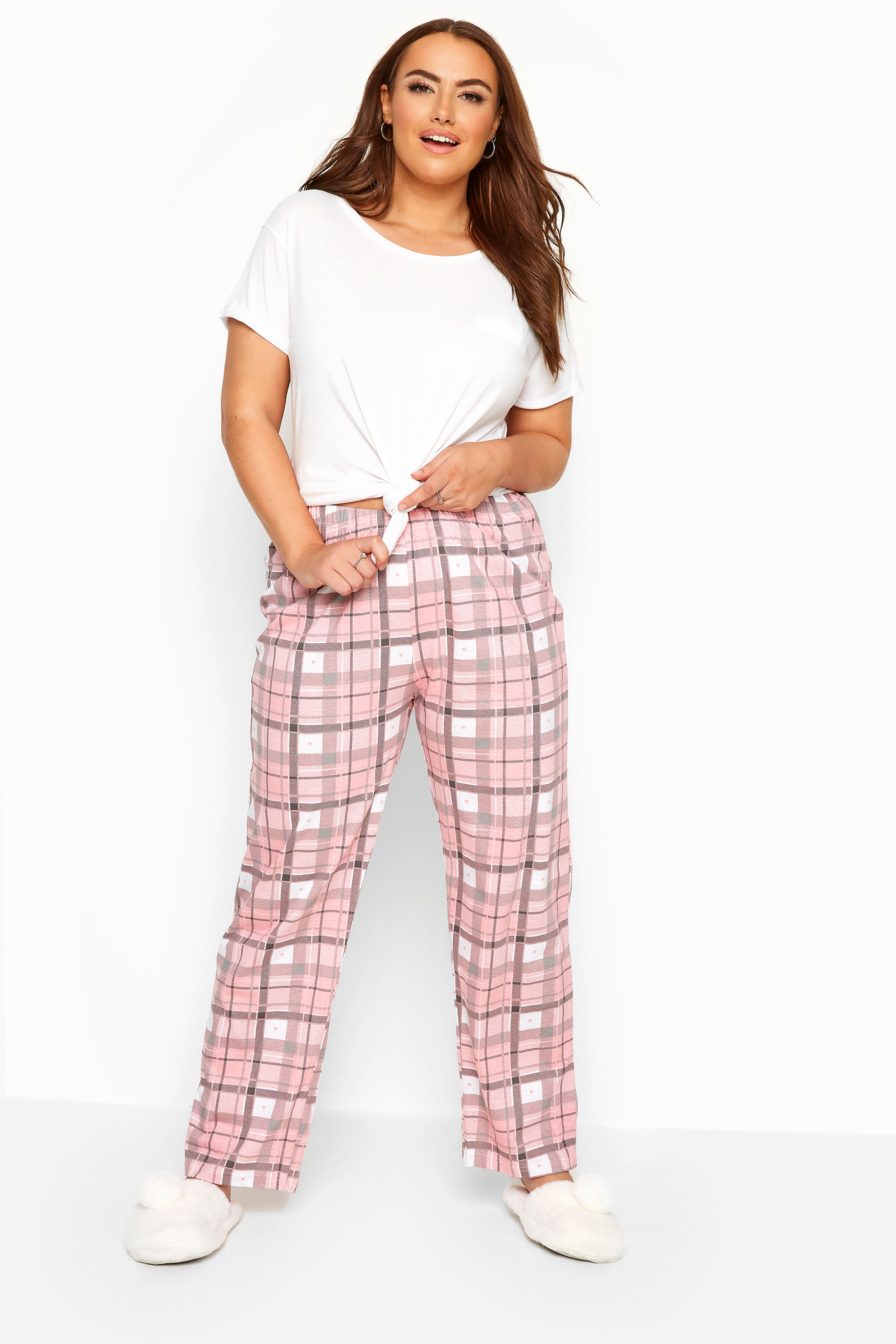 Pink Checked Pyjama Bottoms