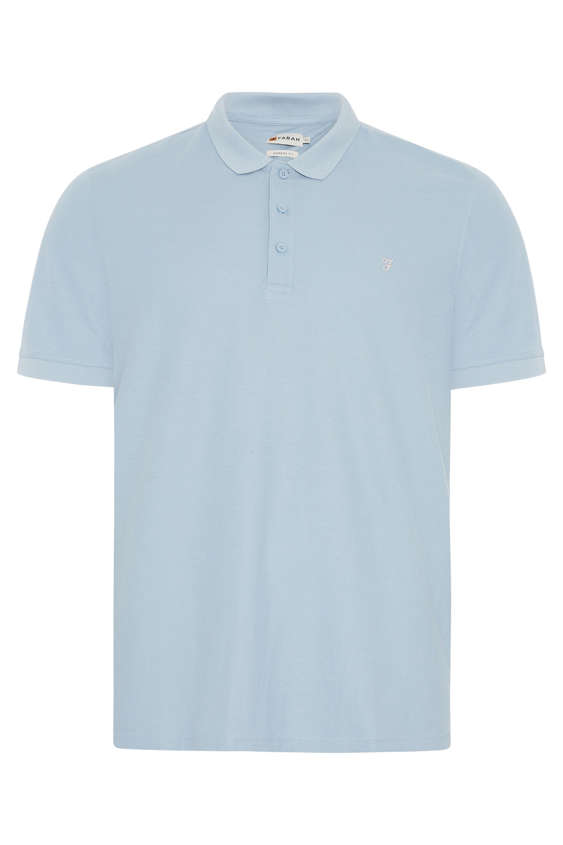 FARAH Blue Polo Shirt
