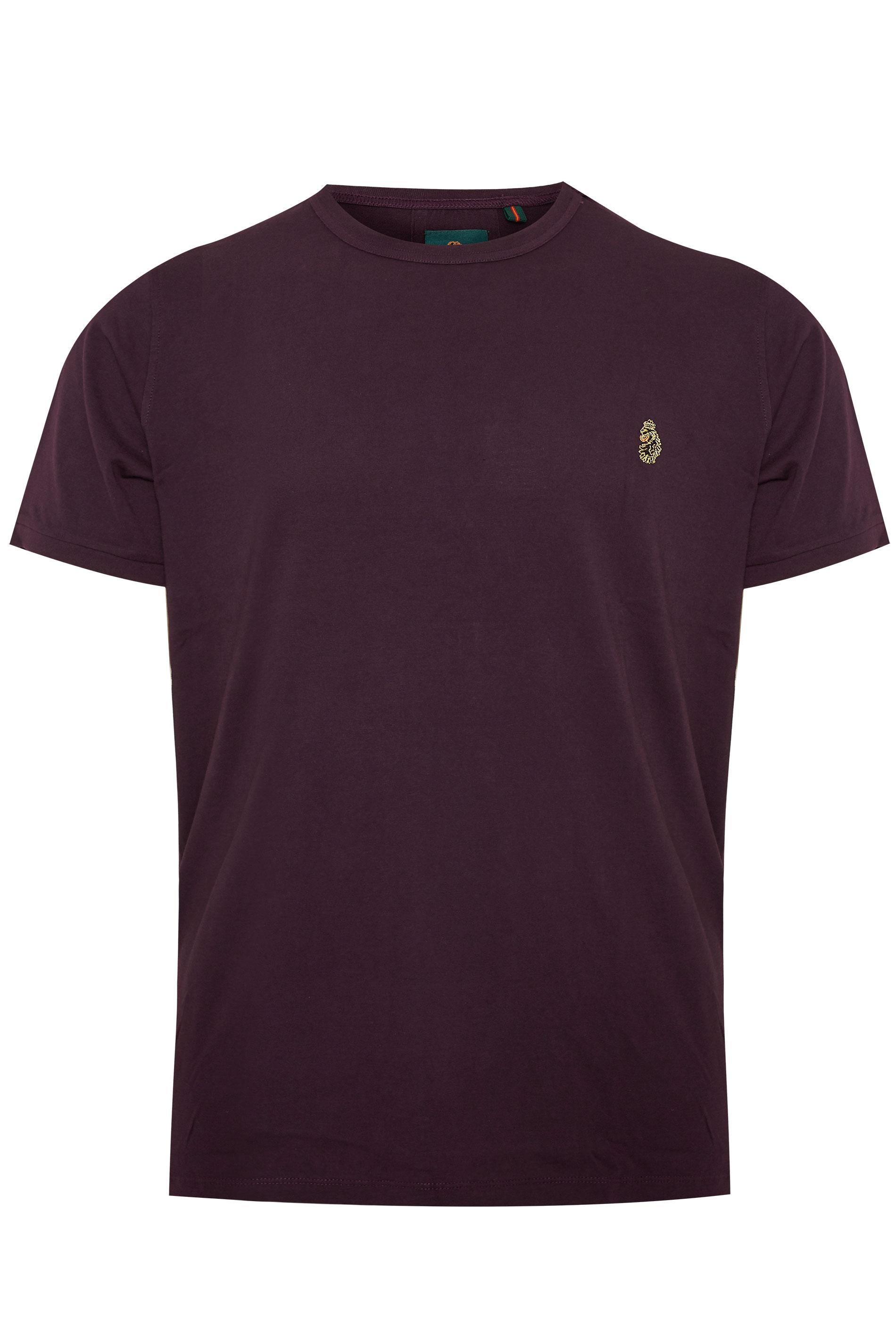 LUKE 1977 - T-shirt van katoen in bordeauxrood