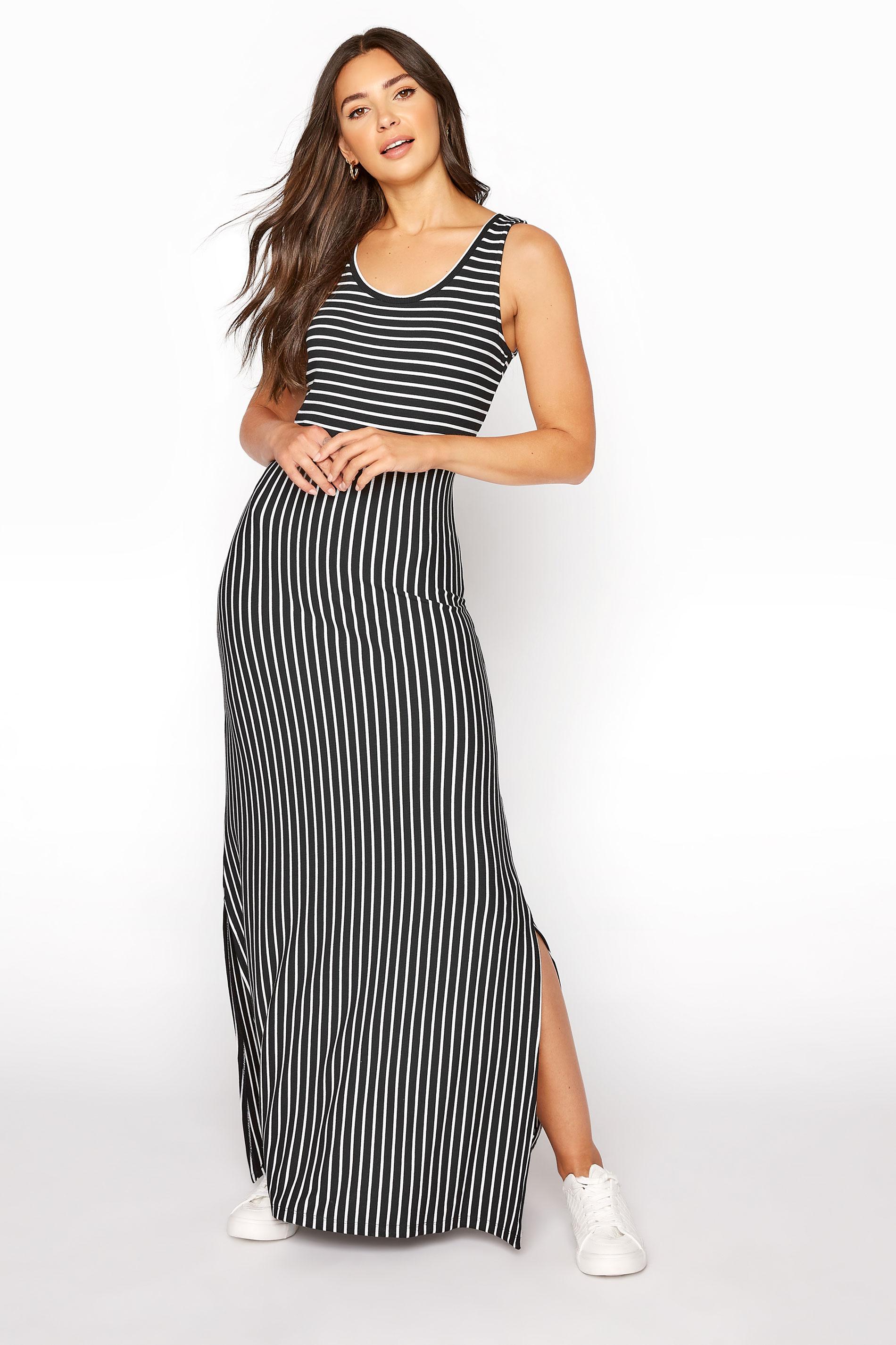 LTS Black Stripe Maxi Dress