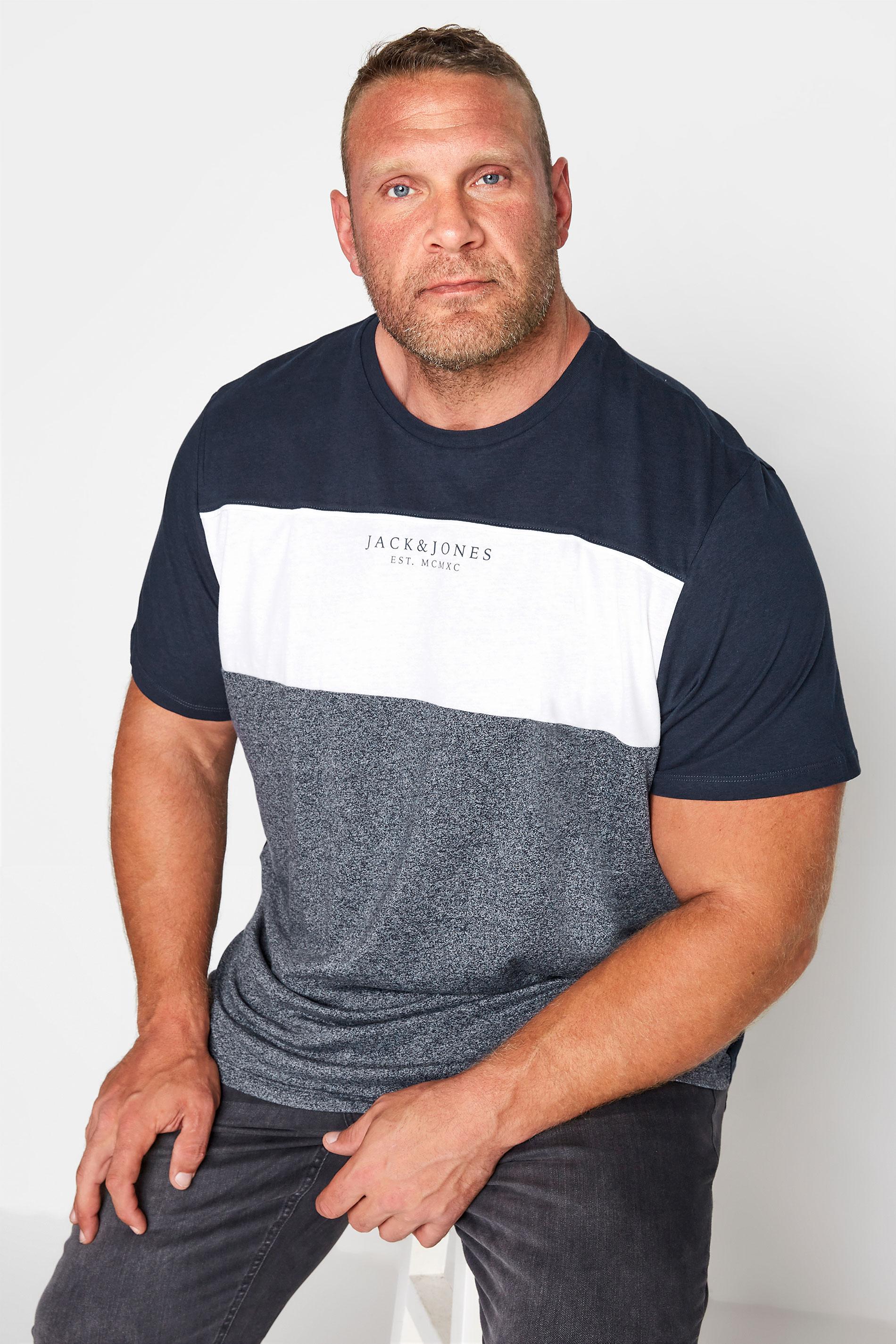 JACK & JONES Navy Monse T-Shirt_M.jpg