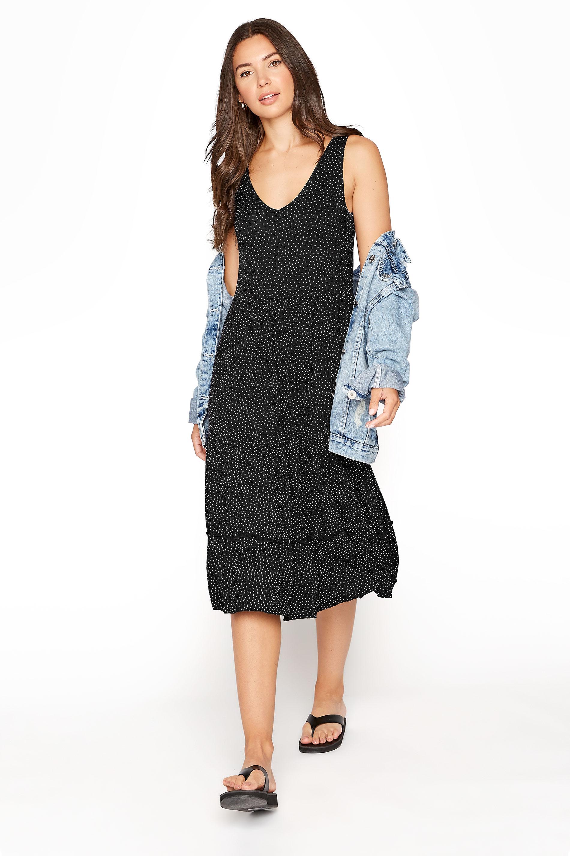 LTS Black Spot Tiered Dress