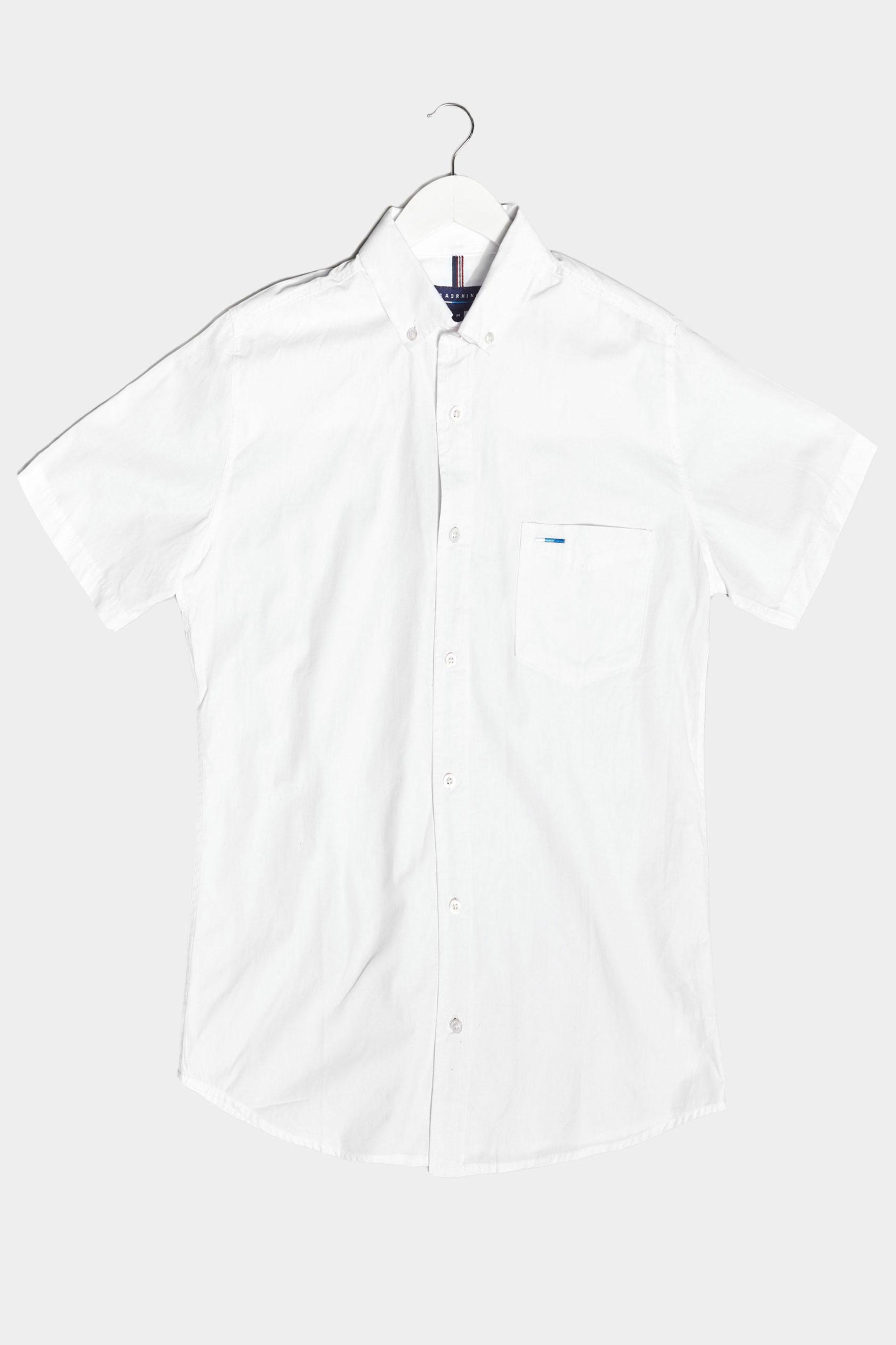 BadRhino White Cotton Poplin Short Sleeve Shirt