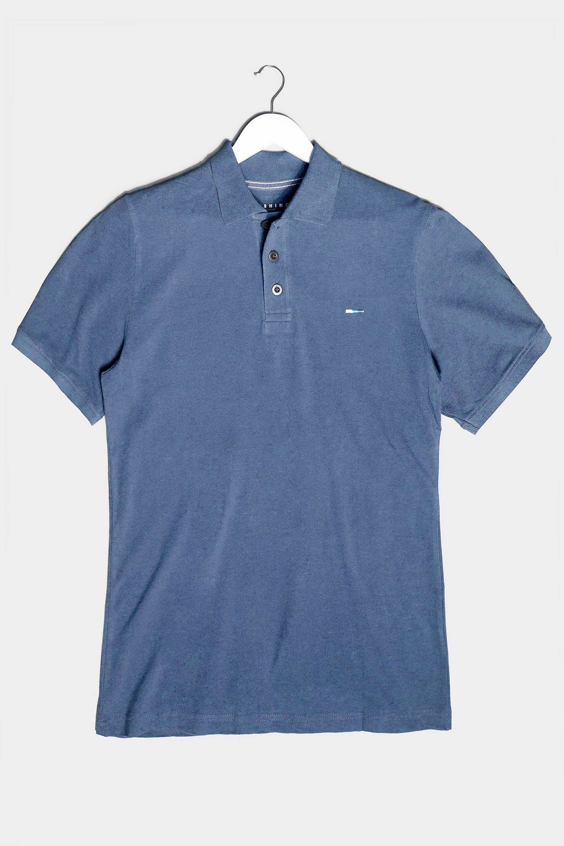 BadRhino Blue Washed Polo Shirt