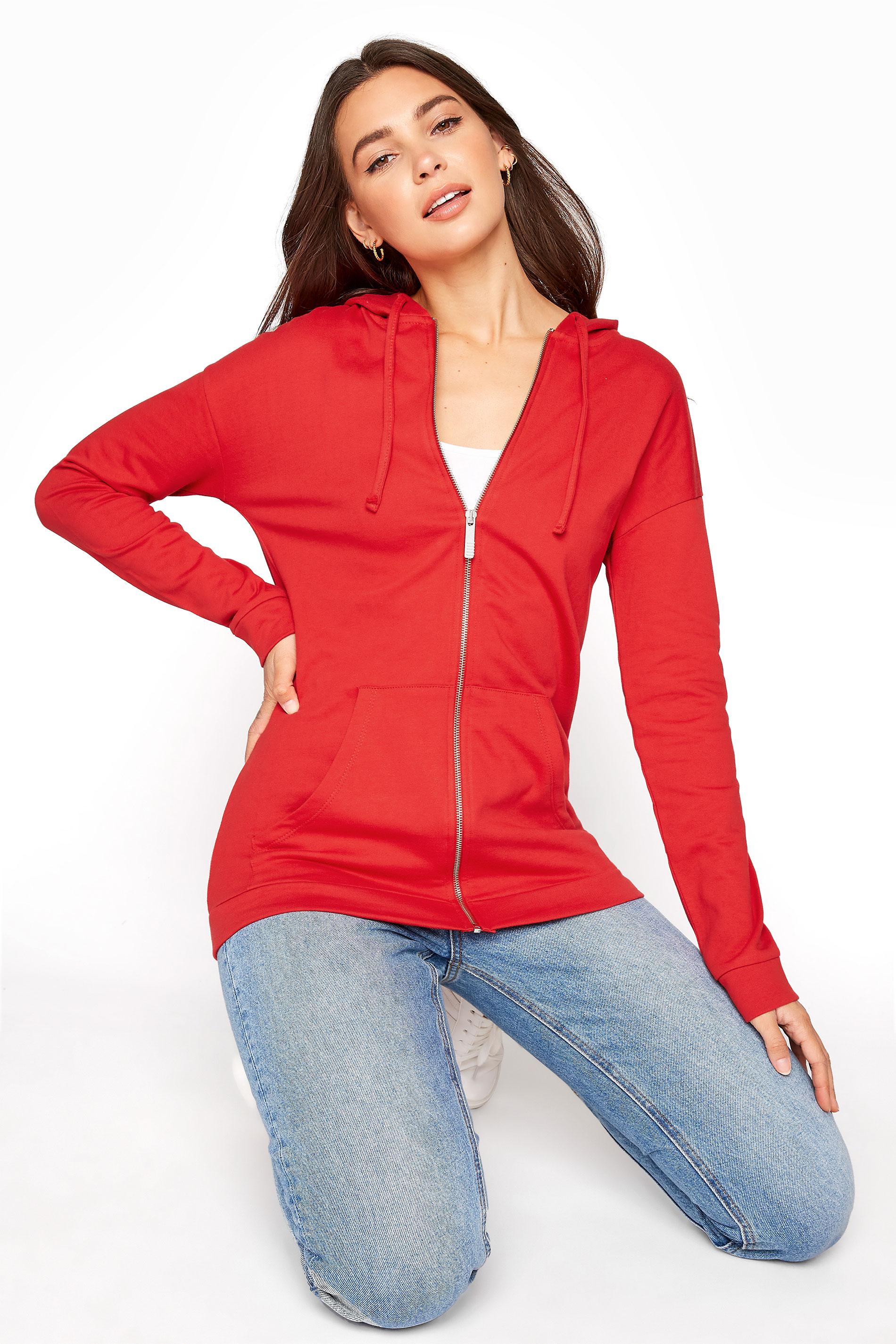 LTS Bright Red Zipper Hoodie