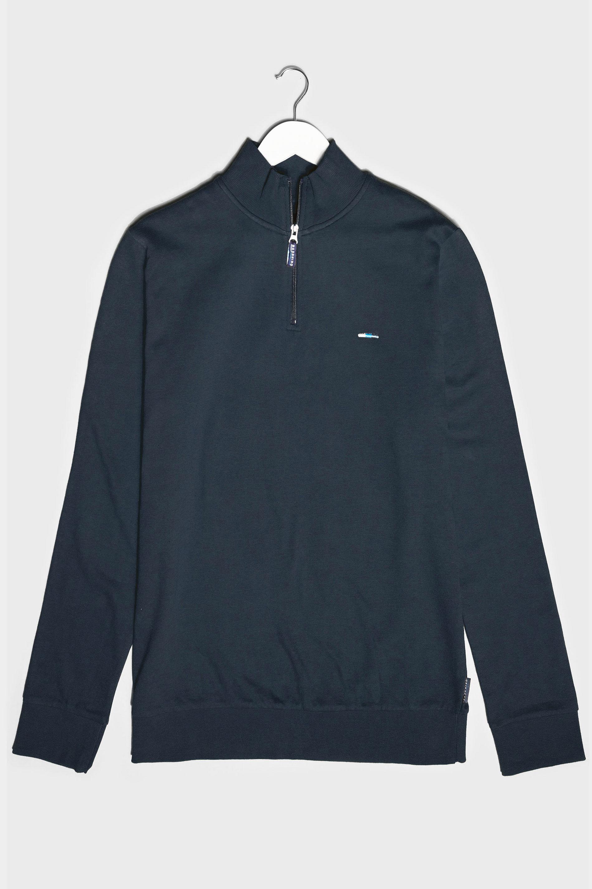 BadRhino Navy Quarter Zip Essential Sweatshirt