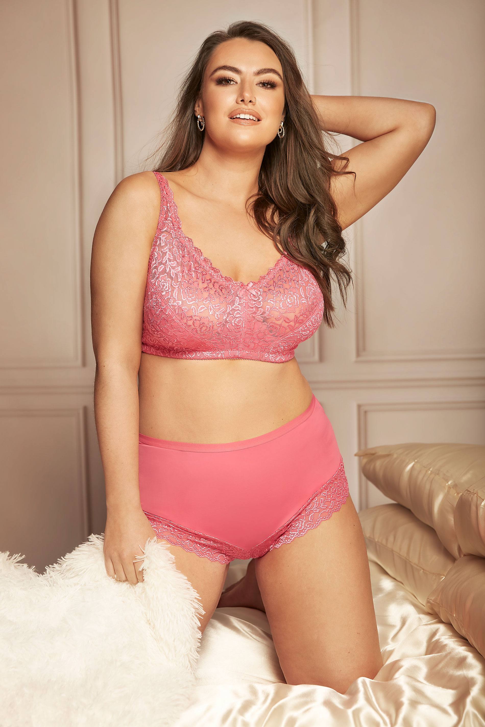 Pink Hi Shine Non-Wired Bra