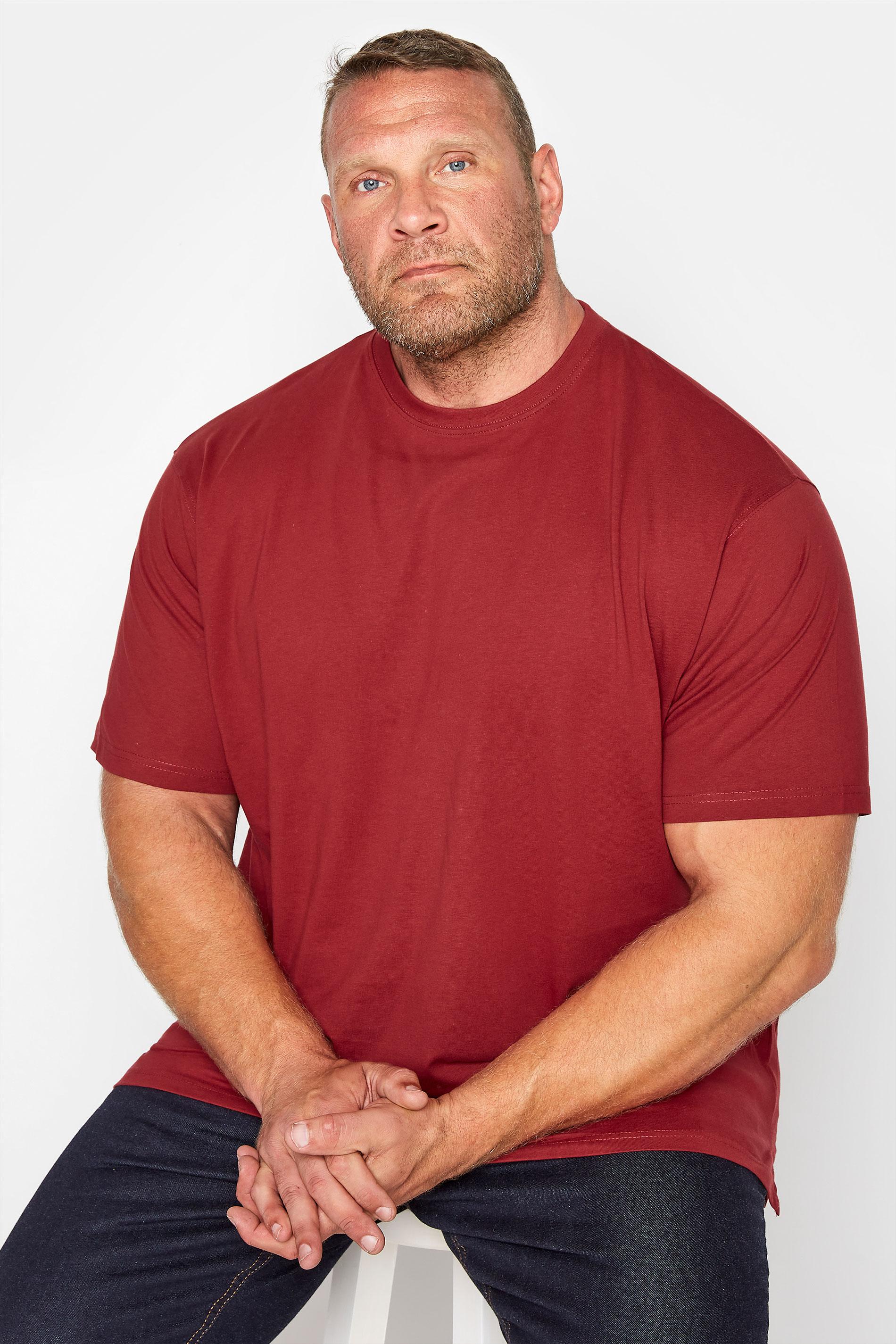KAM Red Plain T-Shirt_M.jpg