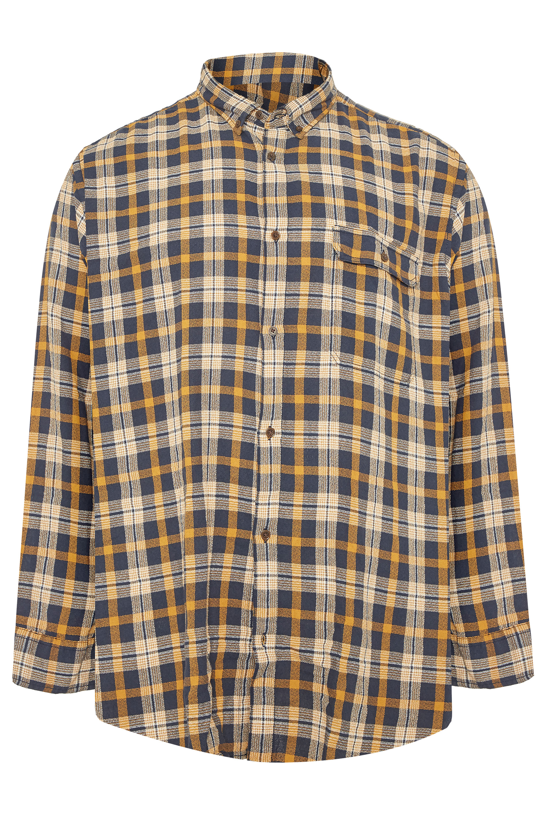 JACK & JONES Rust Orange Emmerson Check Shirt