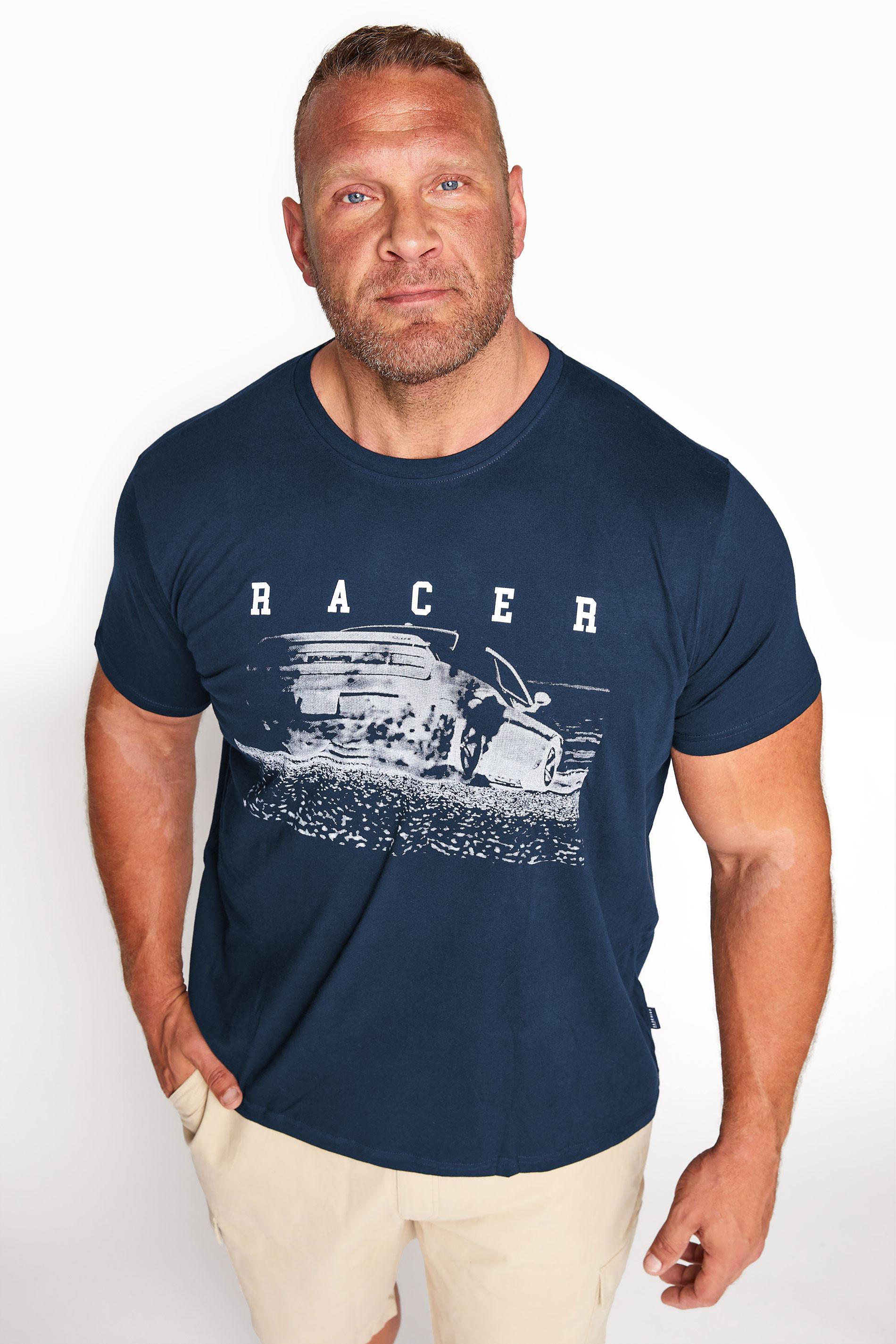 BadRhino Navy Racer Graphic Print T-Shirt_A.jpg