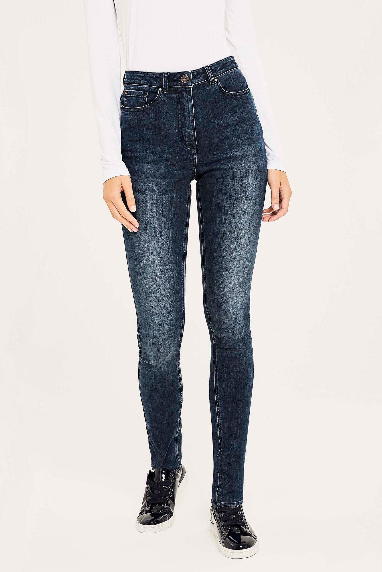Dark Blue Wash Powerstretch Super Skinny Jeans
