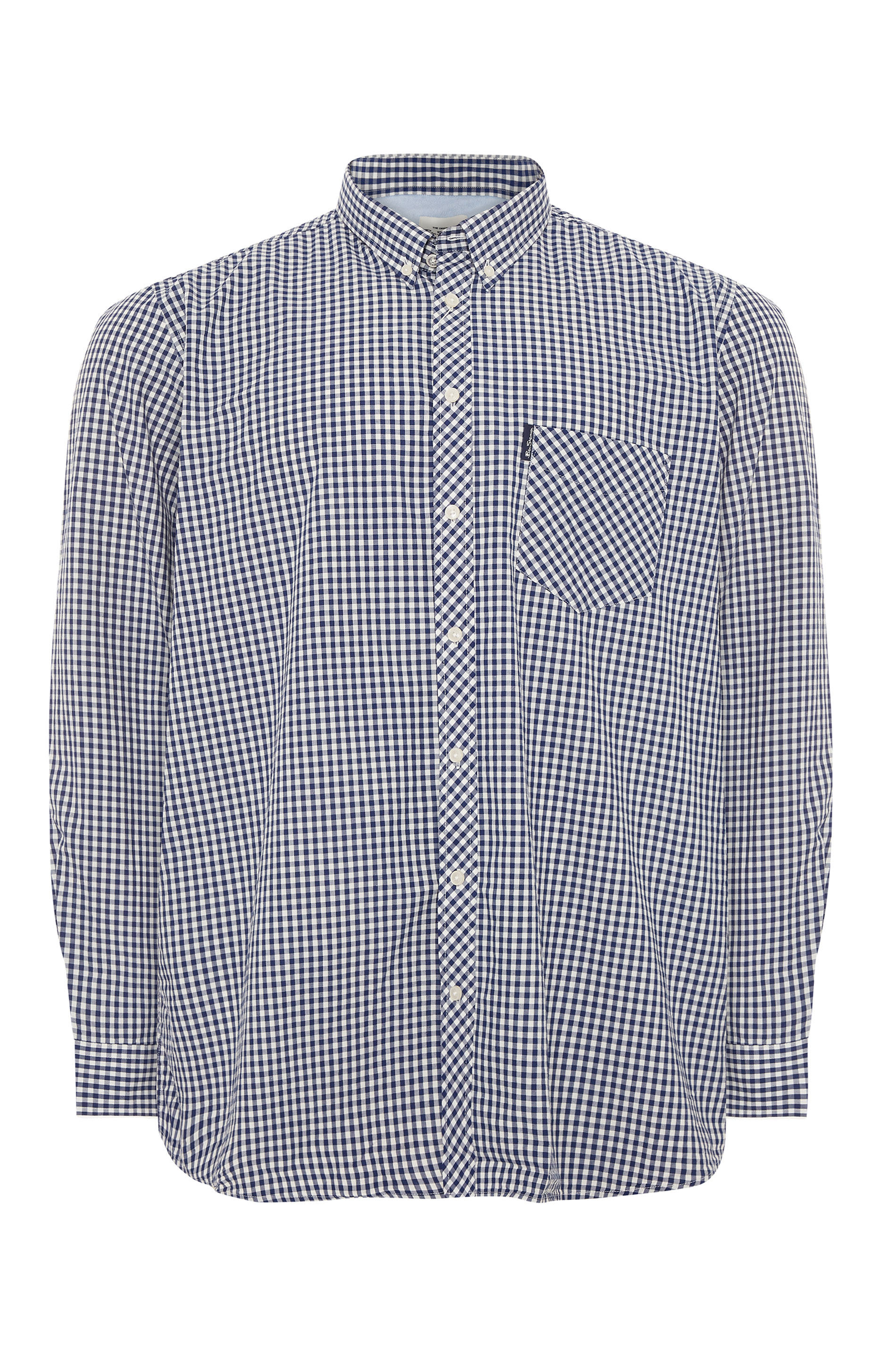 BEN SHERMAN Blue Check Signature Long Sleeve Shirt