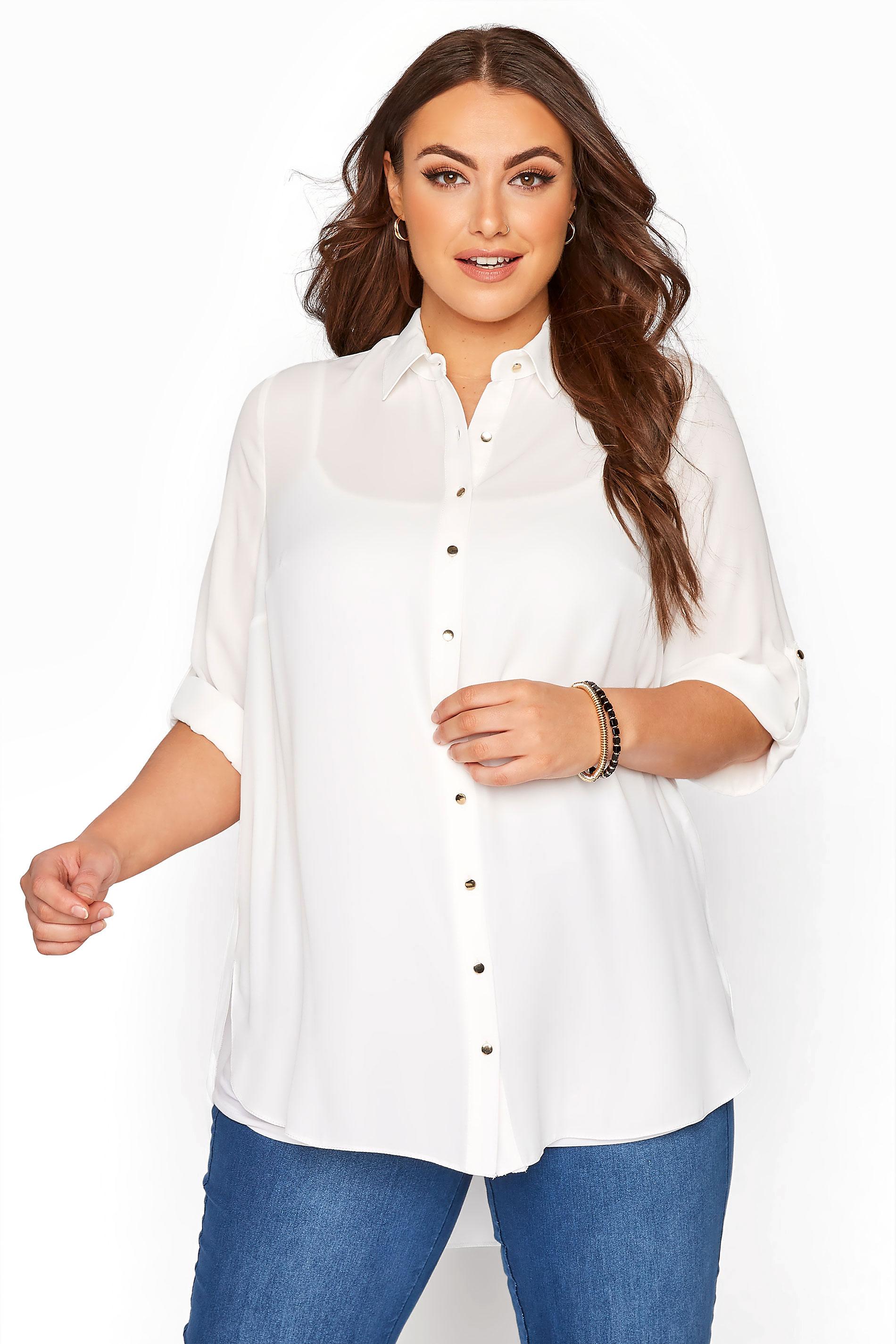White Oversized Chiffon Shirt_A.jpg