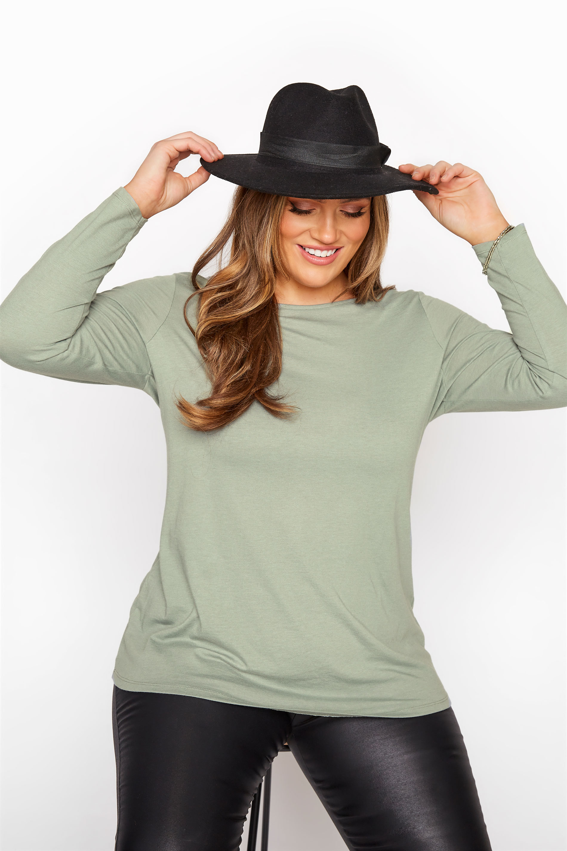 Sage Green Long Sleeve Top