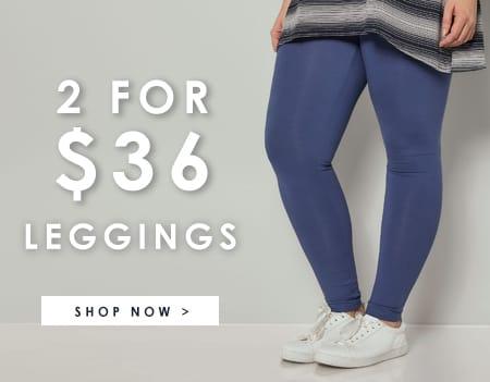 2 for $36 leggings