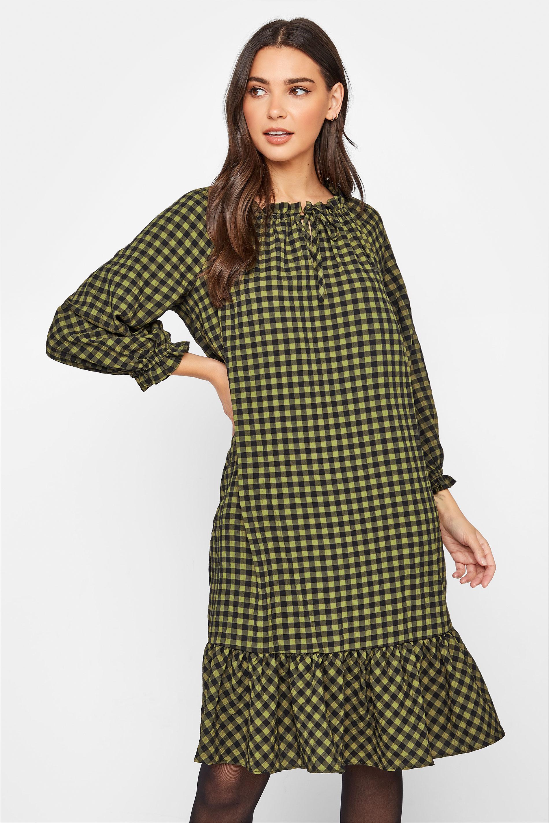 LTS Green Gingham Smock Midi Dress_RA.jpg