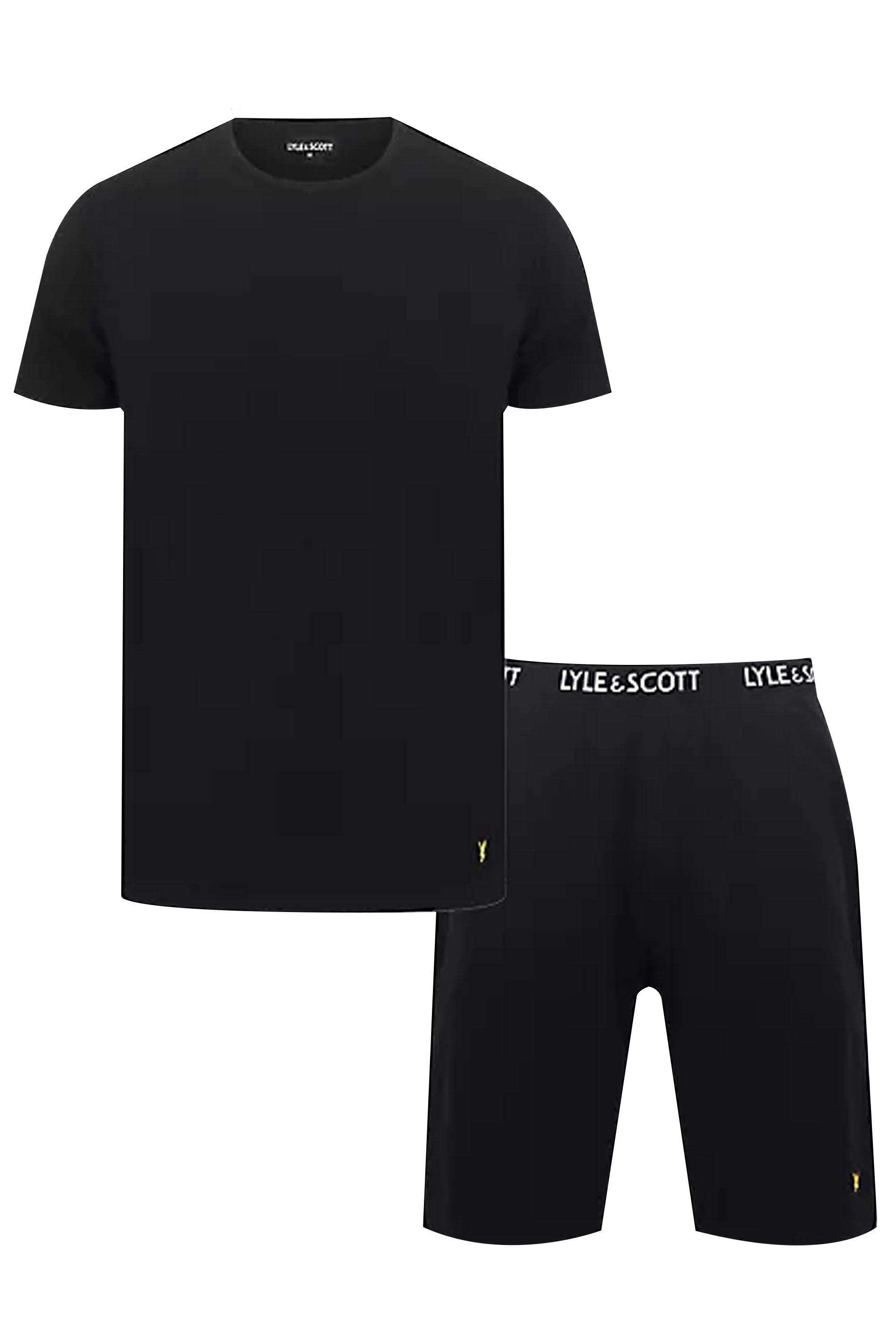 LYLE & SCOTT T-Shirt & Shorts Lounge Set, Schwarz