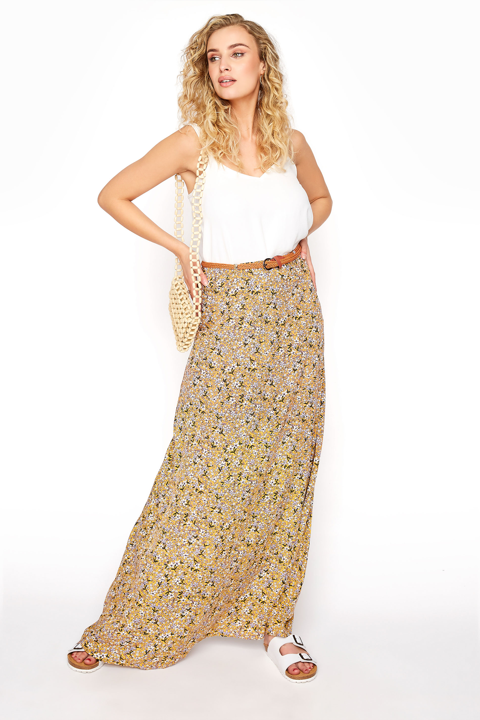 LTS Yellow Floral Maxi Skirt