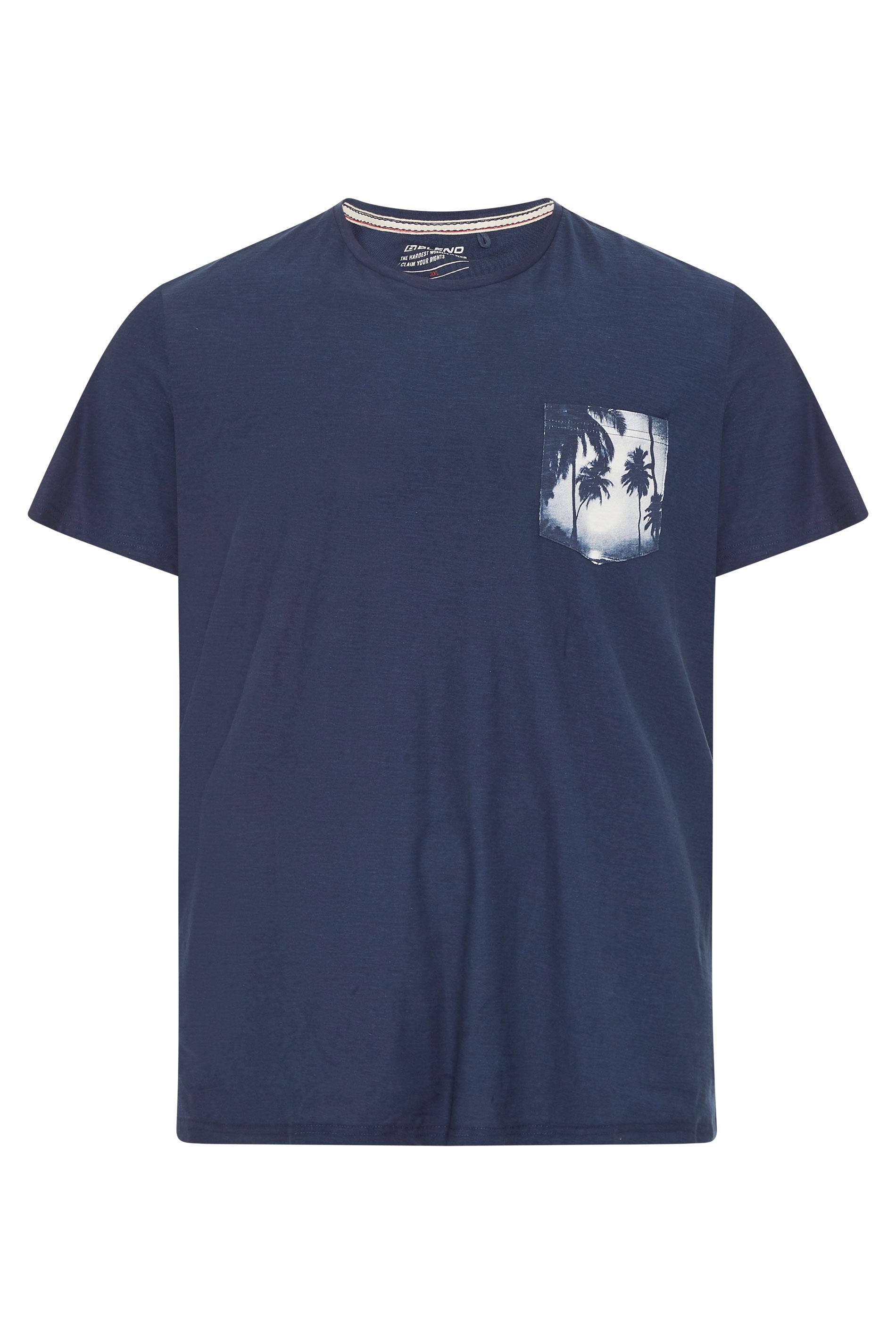 BLEND Navy Palm Pocket T-Shirt