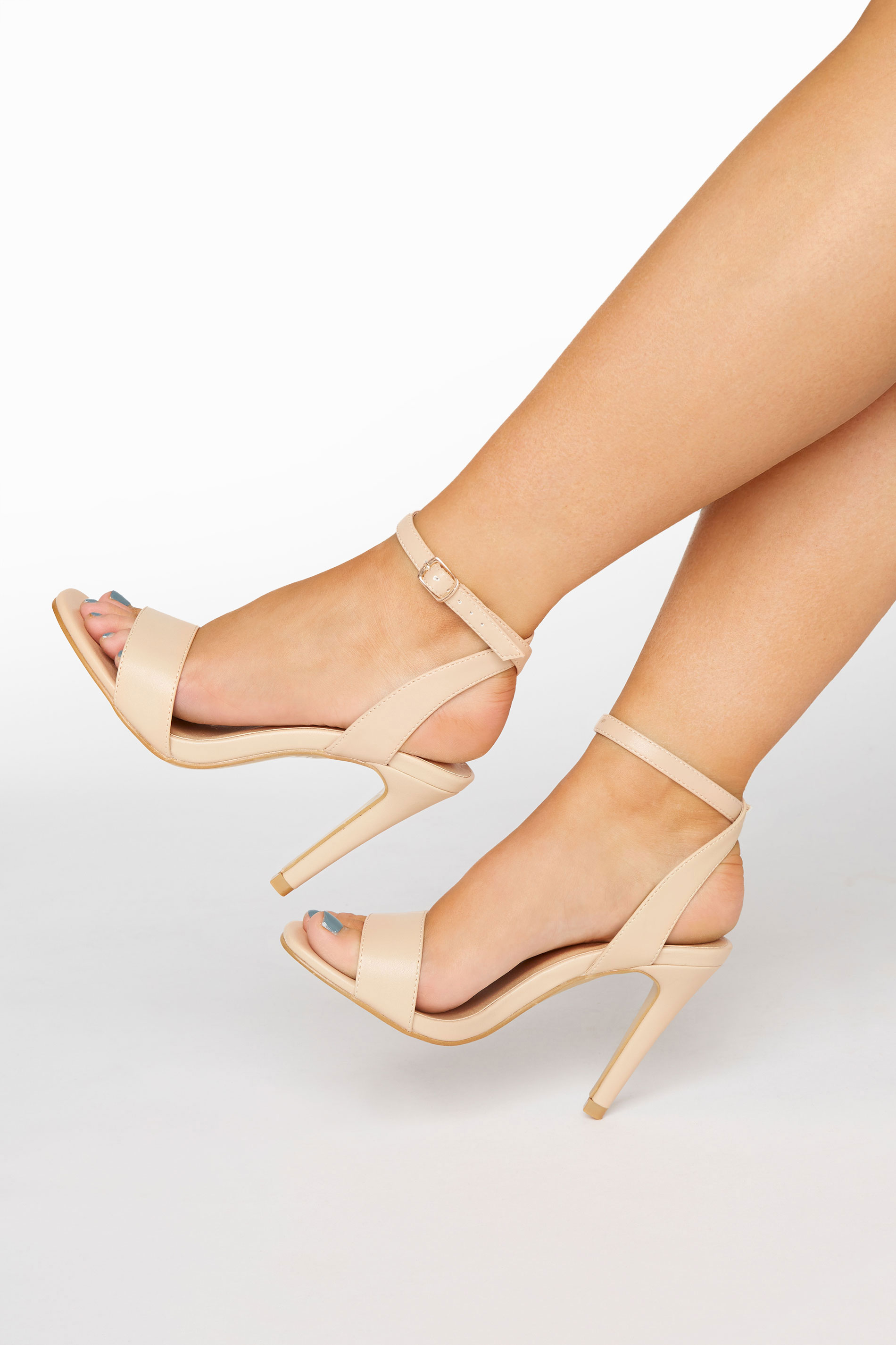 Yours LIMITED COLLECTION Nude Strappy Two Part Heels In Extra Wide Fit