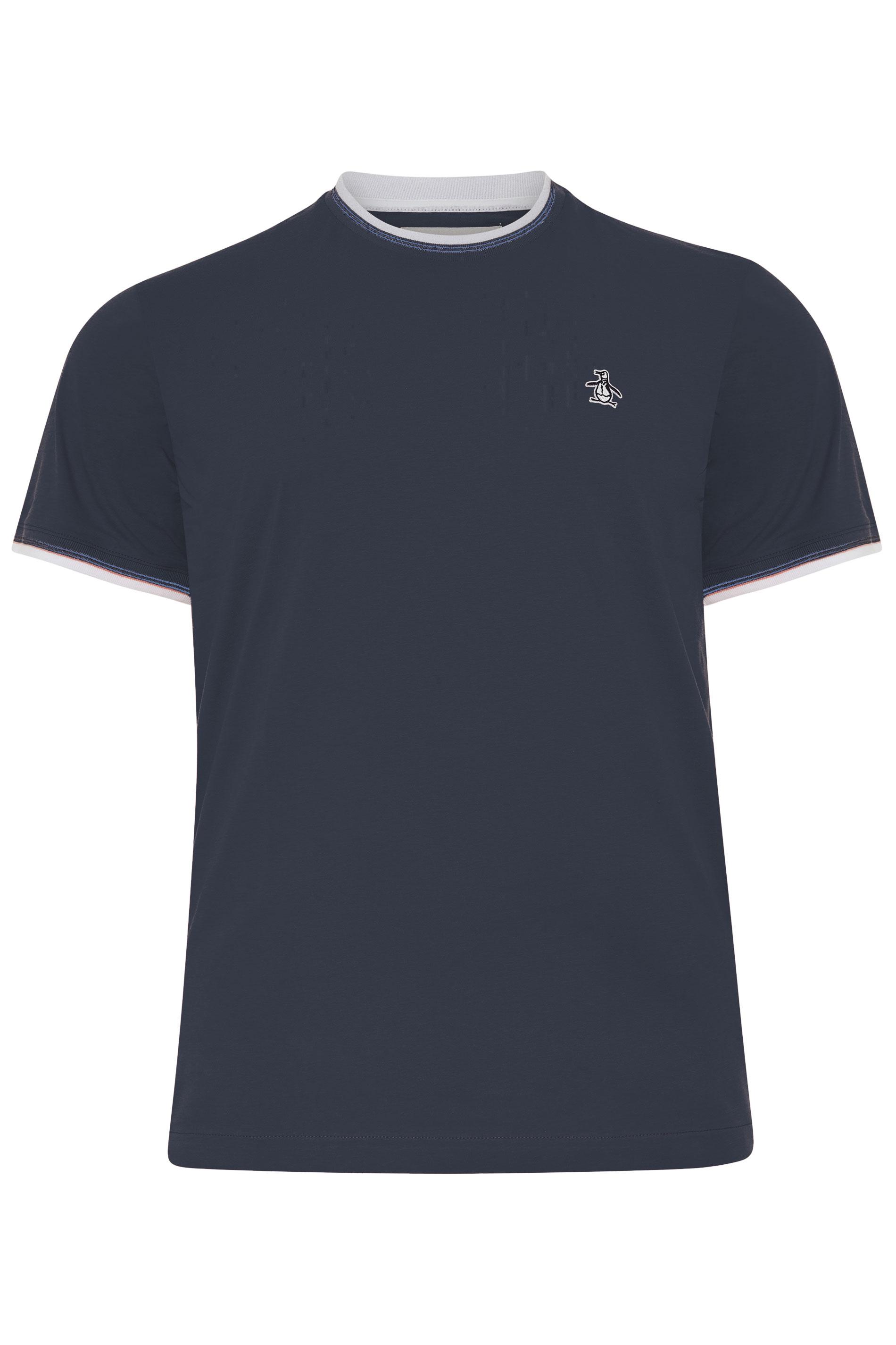 PENGUIN MUNSINGWEAR Navy Contrast Ringer T-Shirt_F.jpg