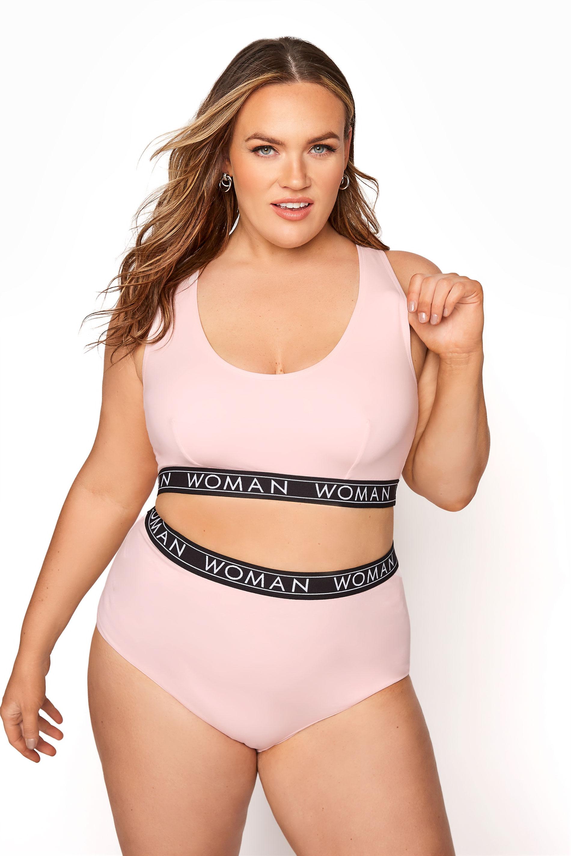 Pink Lounge Woman Bralette Set