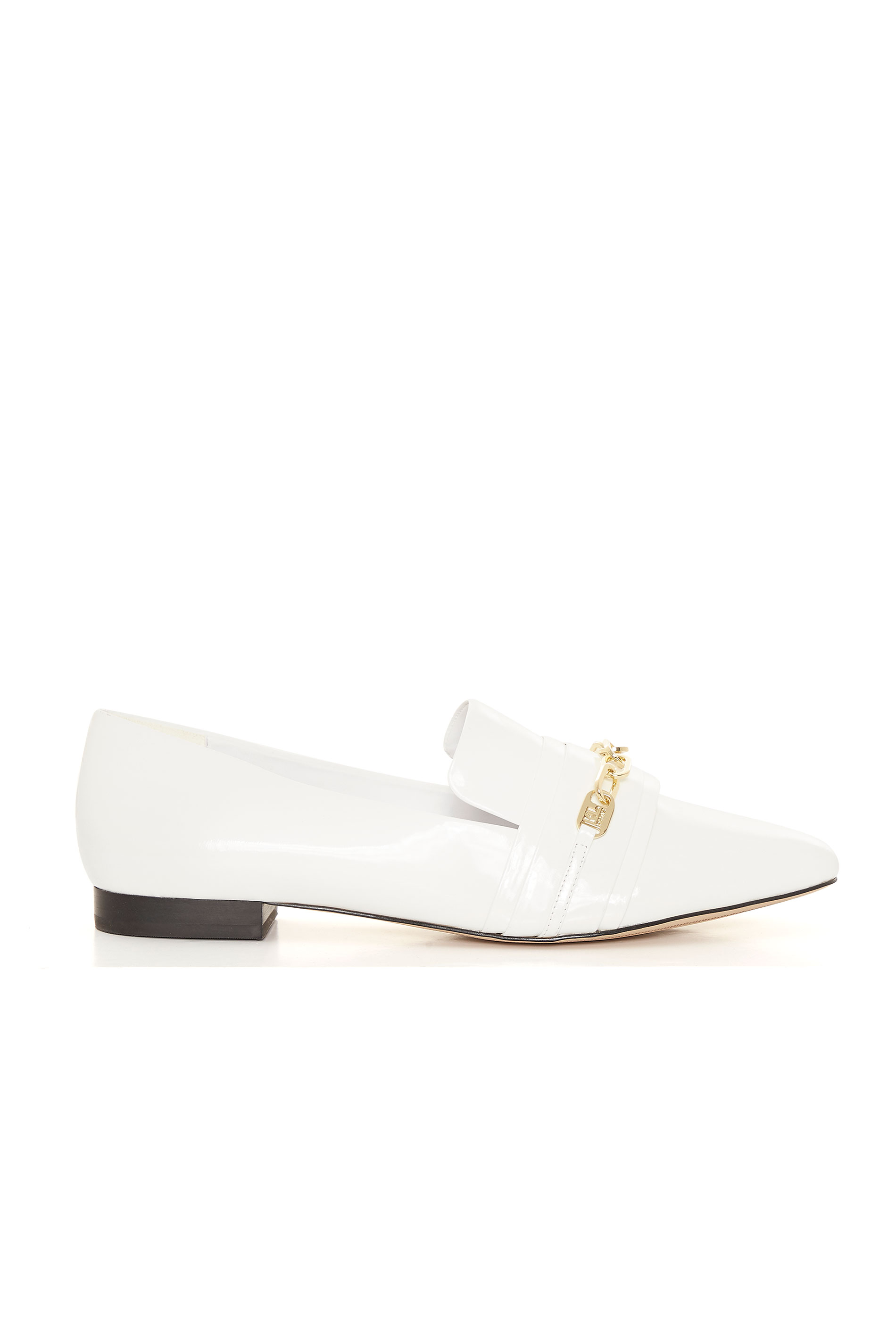 KARL LAGERFELD PARIS White Patent Leather Loafers