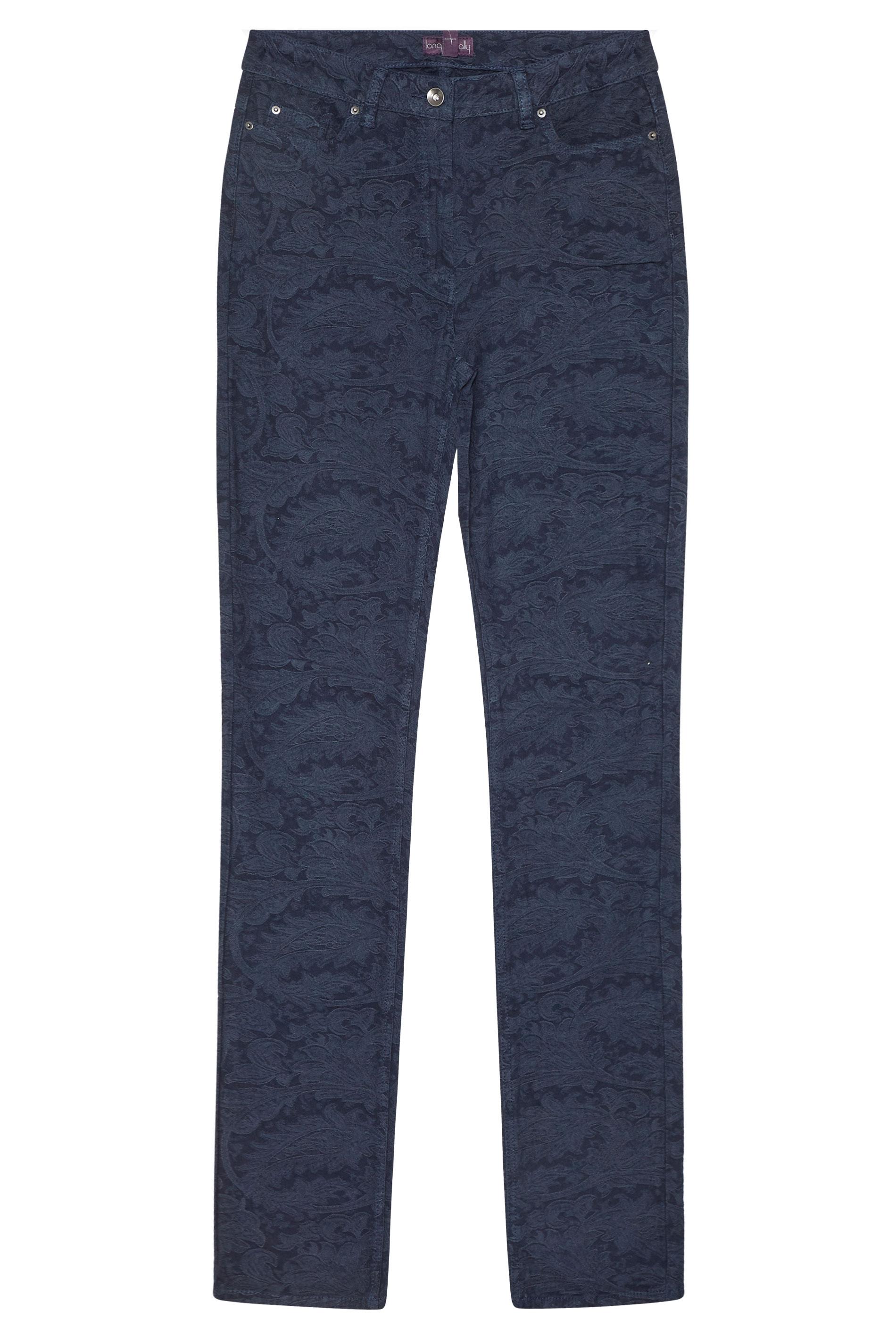 Indigo Blue Jacquard Jeans