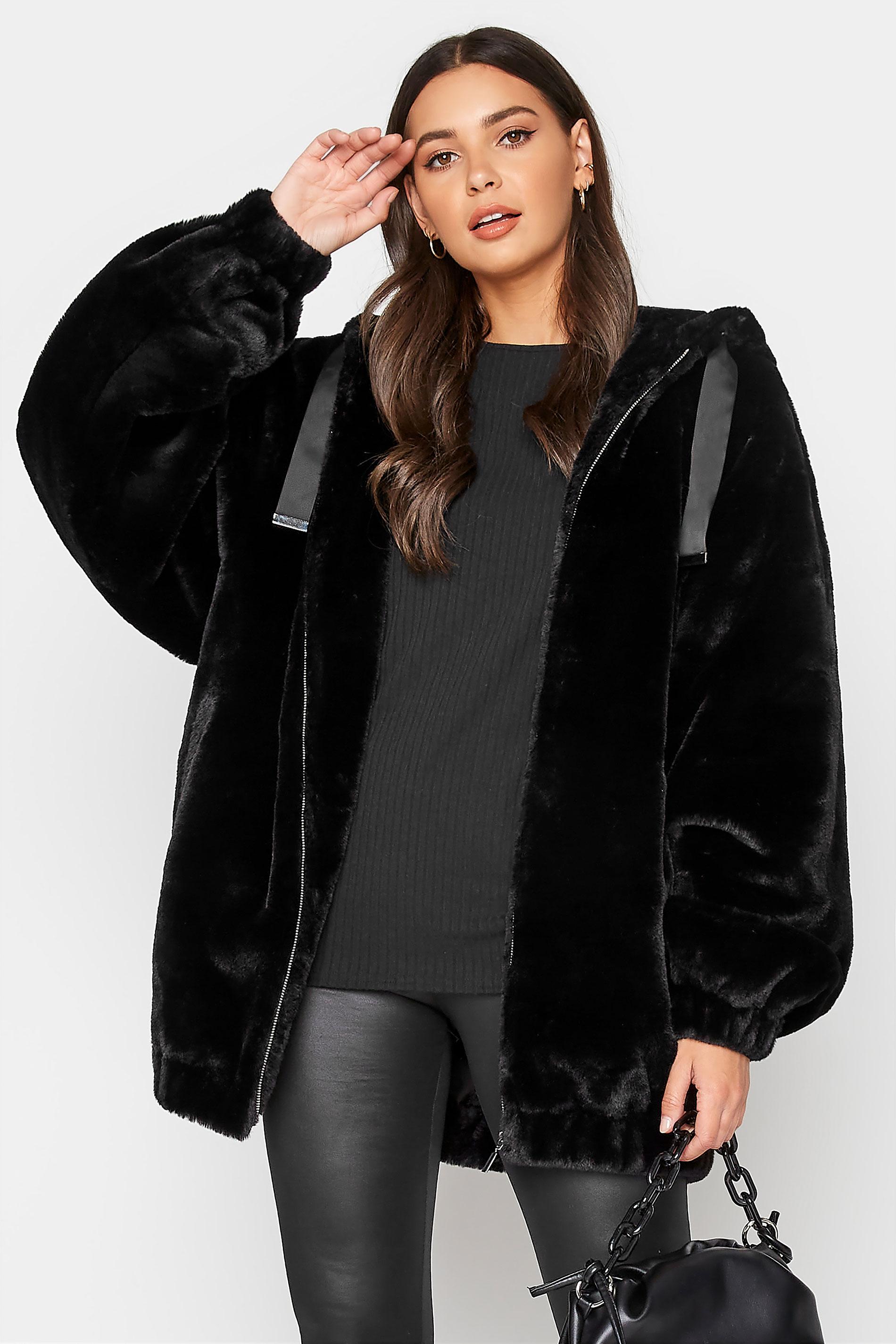 LTS Black Oversized Faux Fur Jacket_A.jpg