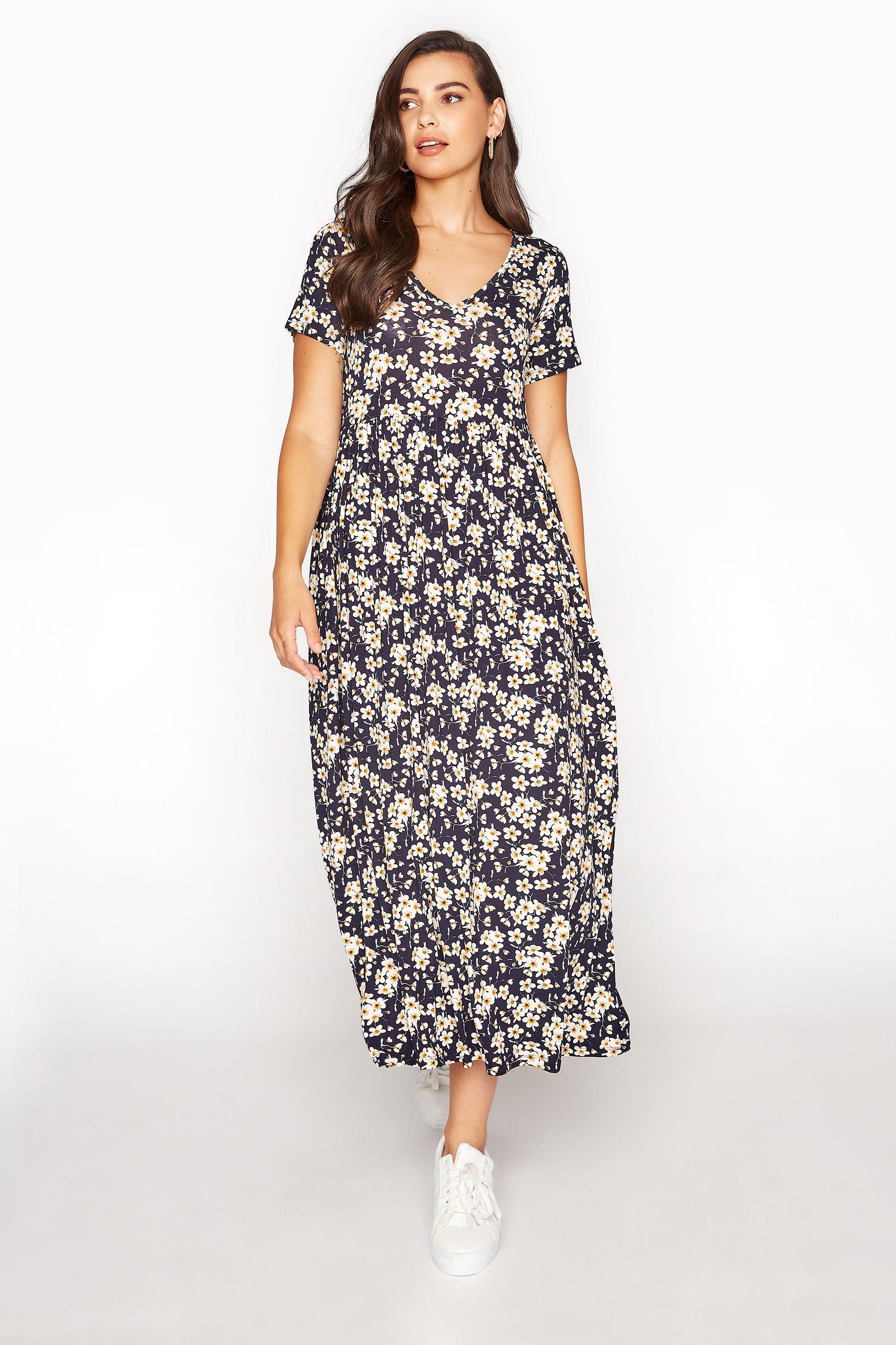 LTS Black Daisy Print Midi Dress_A.jpg