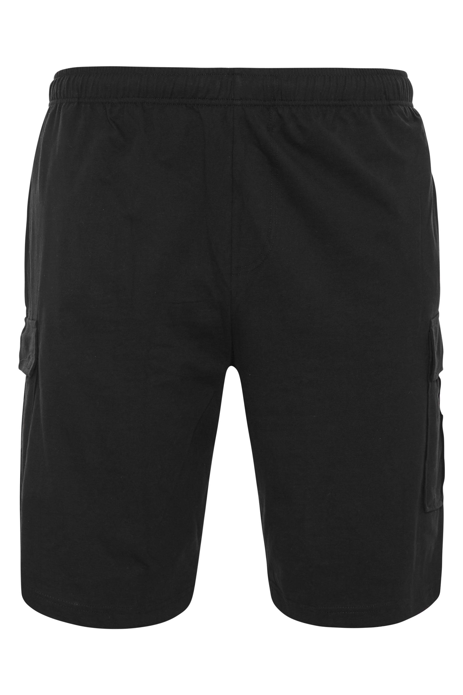 ESPIONAGE Black Cargo Jersey Short